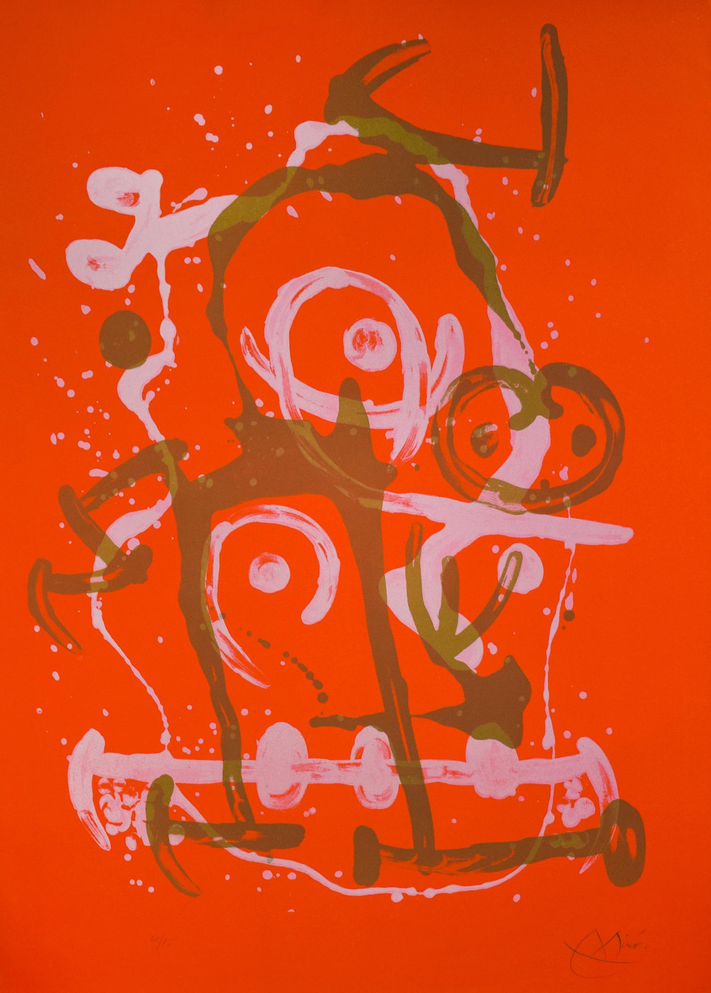 Joan Miró - Chevauchée - Rouge et Brun , 0612-008-313