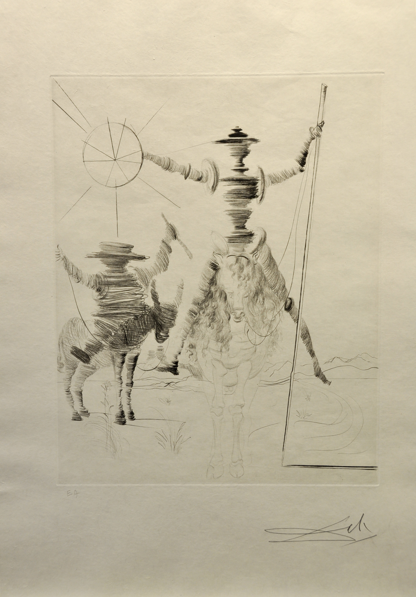 Salvador Dalí - Don Quichotte et Sancho Panca , 0611-008-541