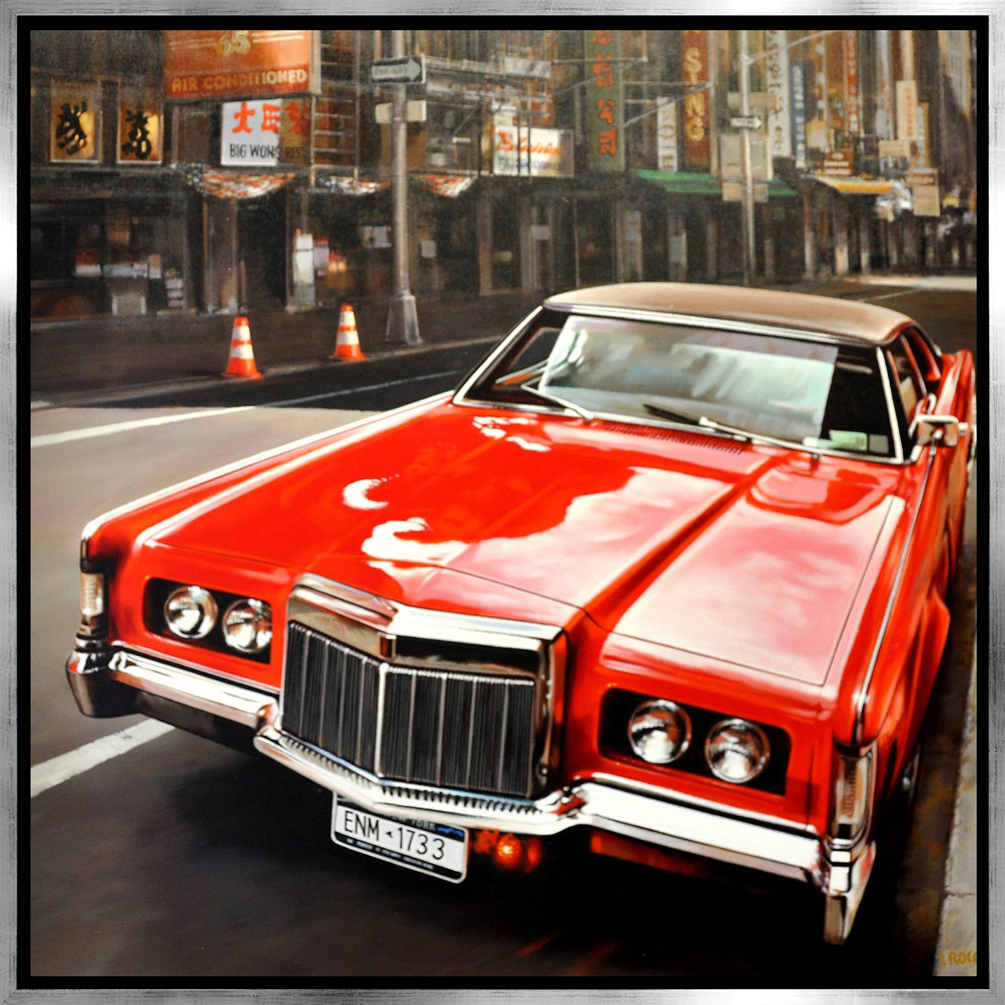 Luigi Rocca - 1733, parked red Cadillac , 0855-006-832