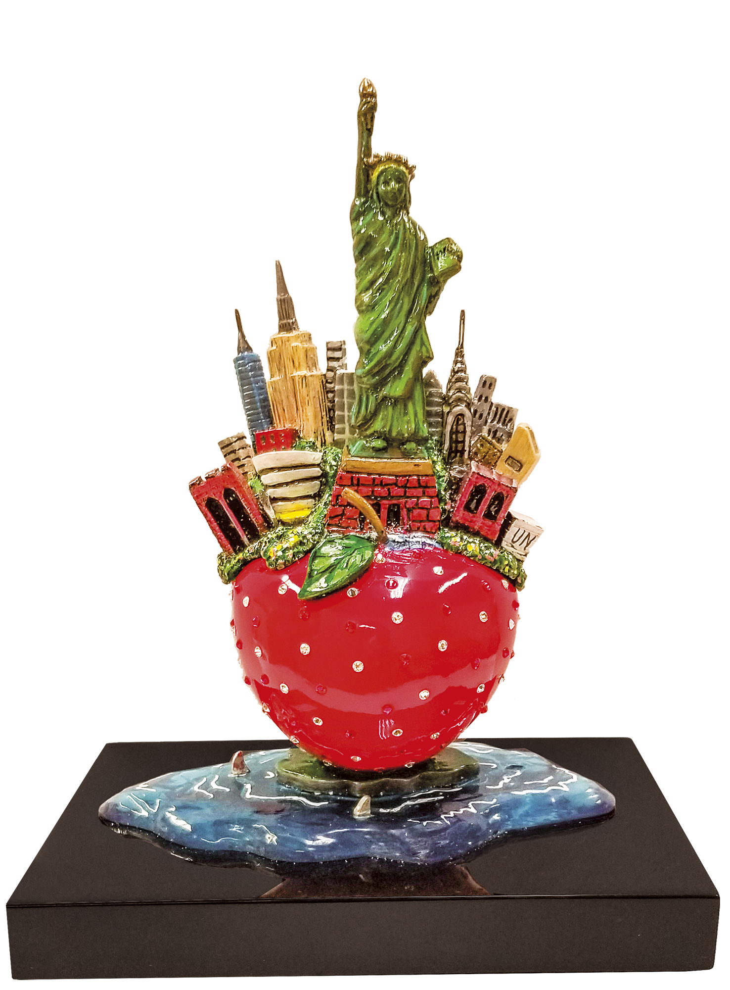 Charles Fazzino - Little Bronze Apple Sculpture , 5553-011-003