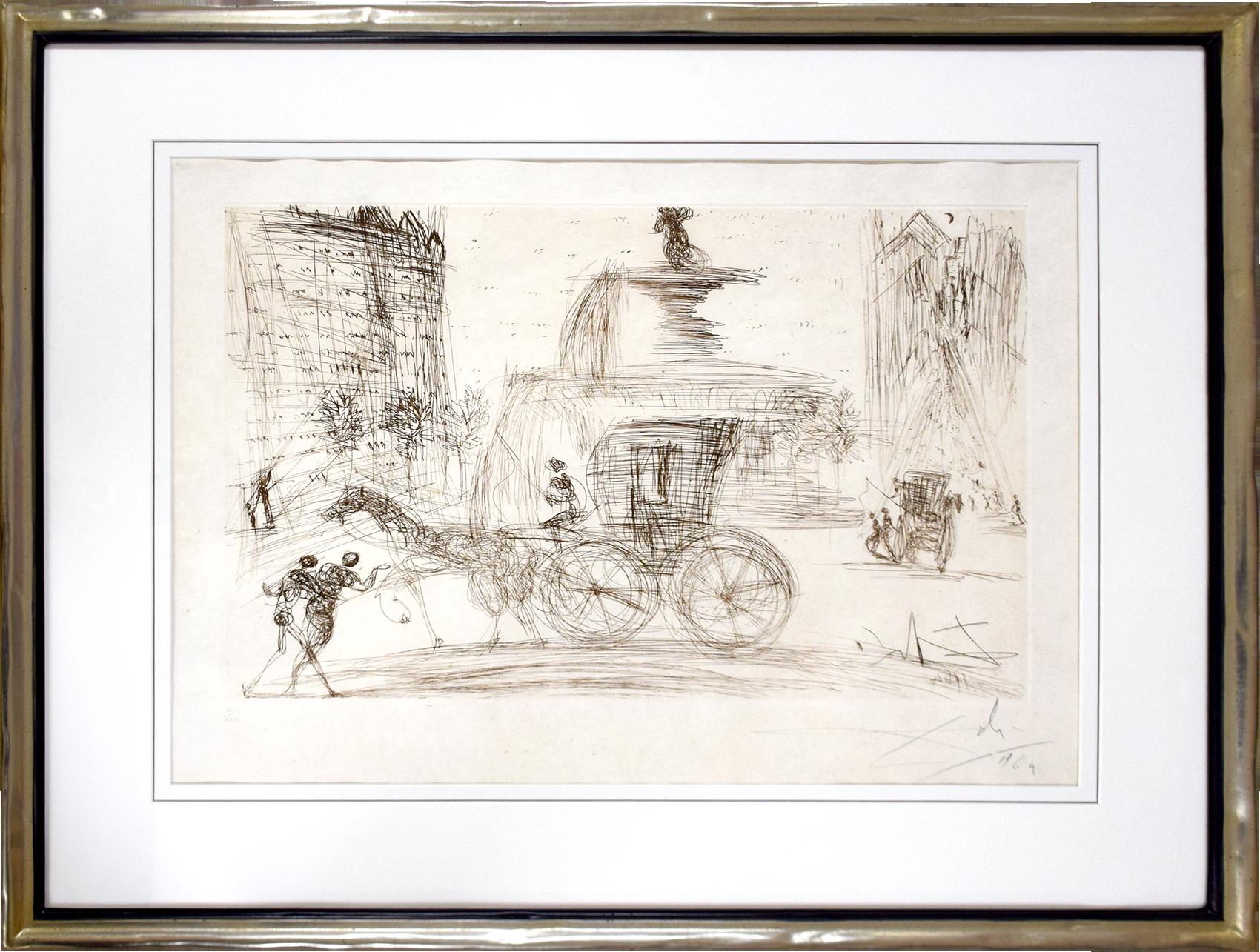 Salvador Dalí - Plaza Fountain, New York City , 0611-008-543