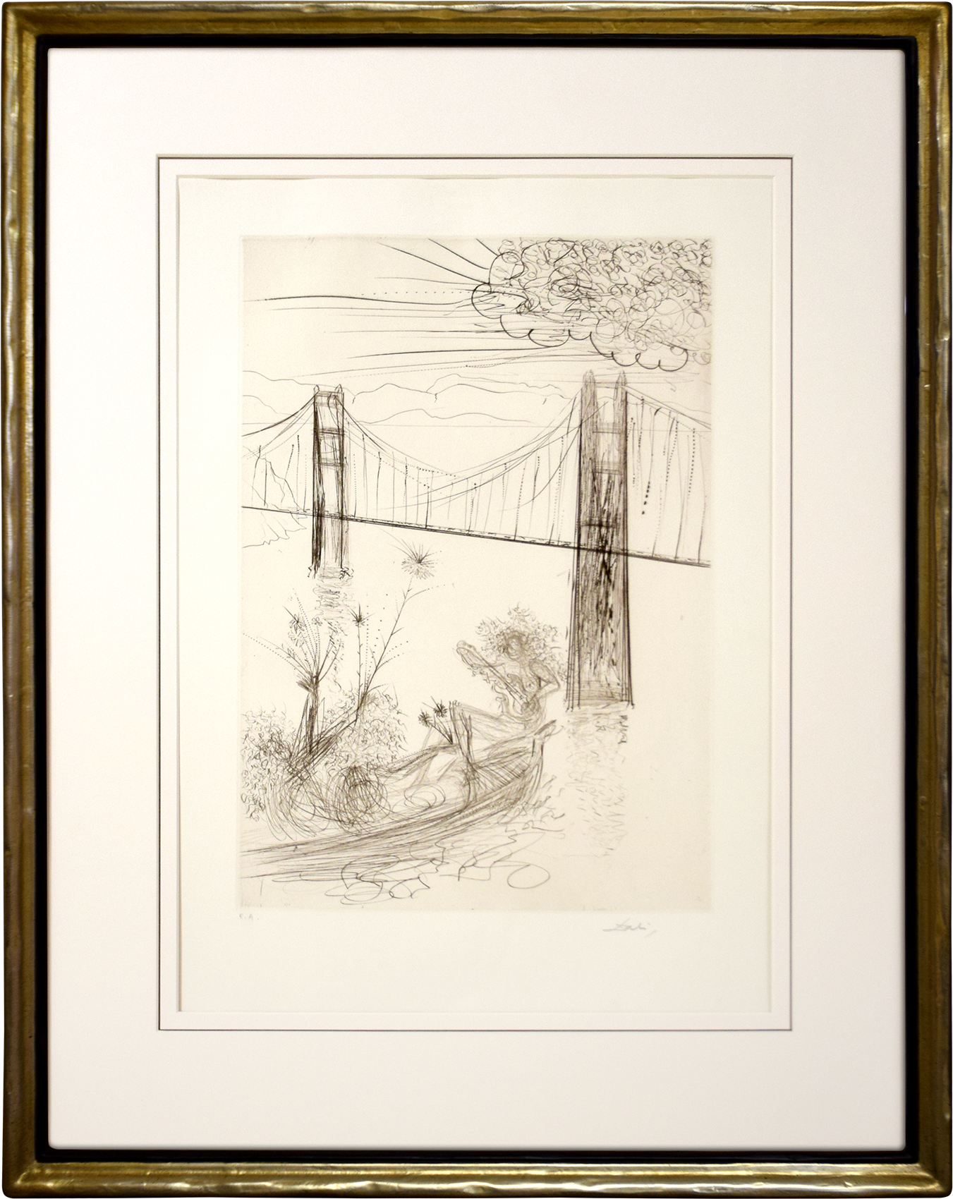 Salvador Dalí - Golden Gate Bridge , 0611-008-532