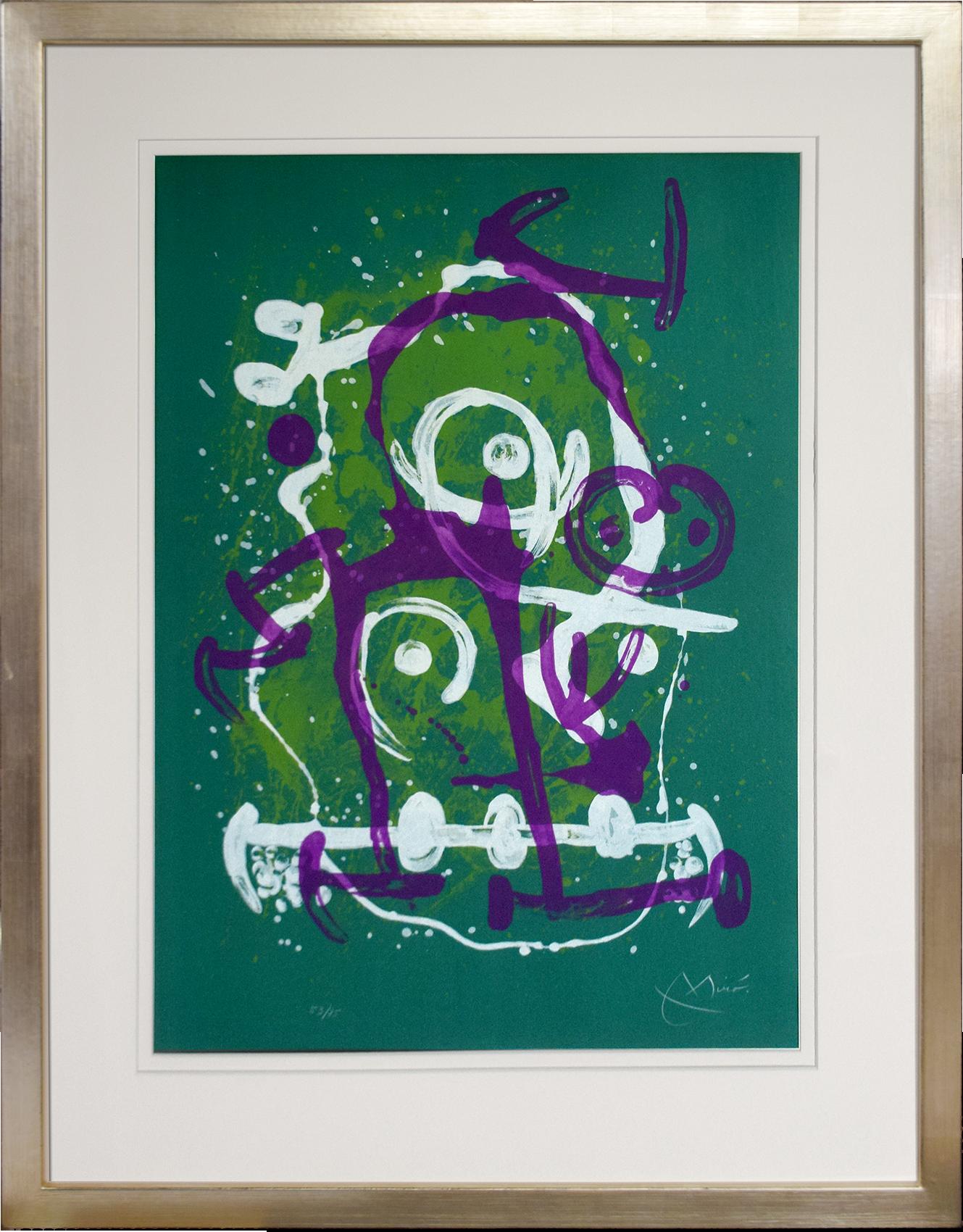 Joan Miró - L'illettré-Vert et violet , 0612-008-316