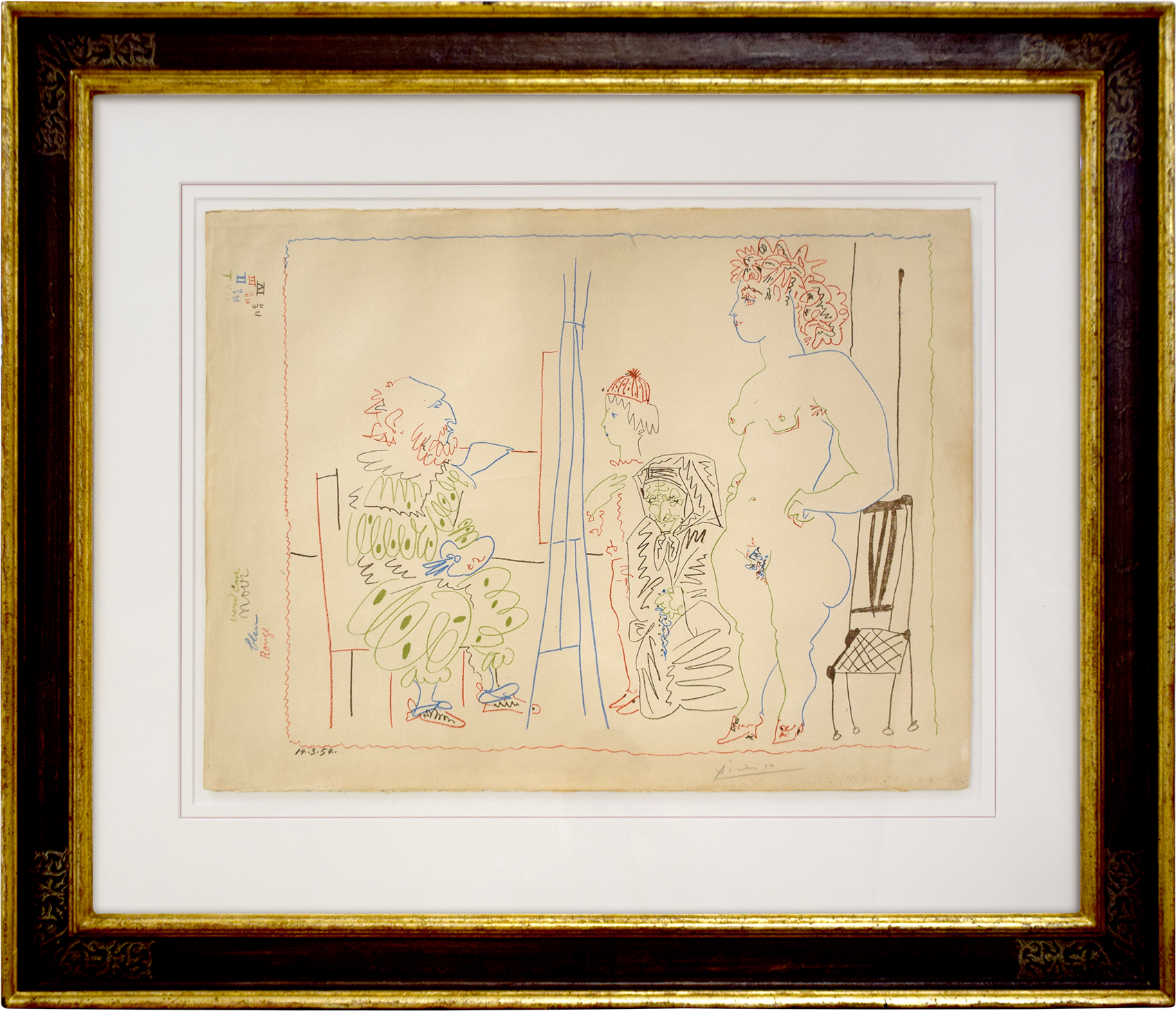 Pablo Picasso - Le Modèle et deux personnages , 0613-008-091