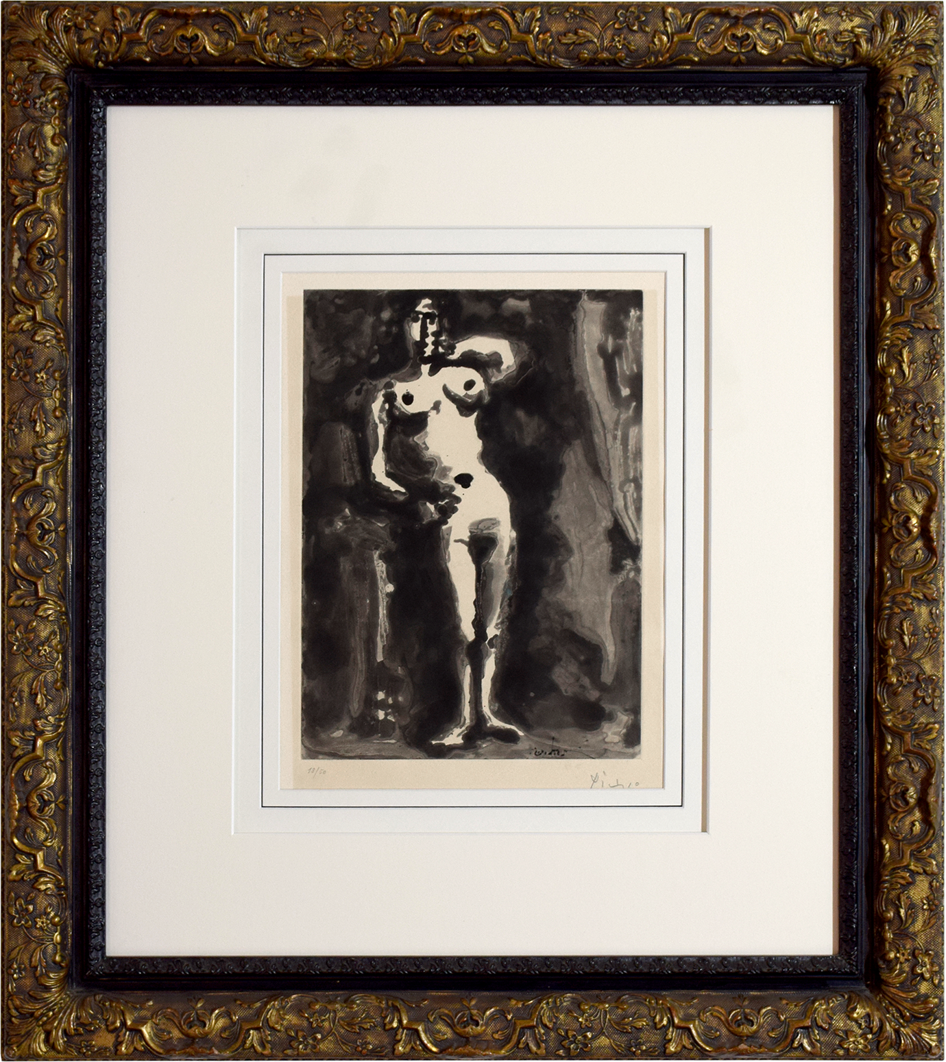 """Pablo Picasso - """"25.2.65"""" aus """"Sable Mouvant"""" (Treibsand) , 0613-008-124"""