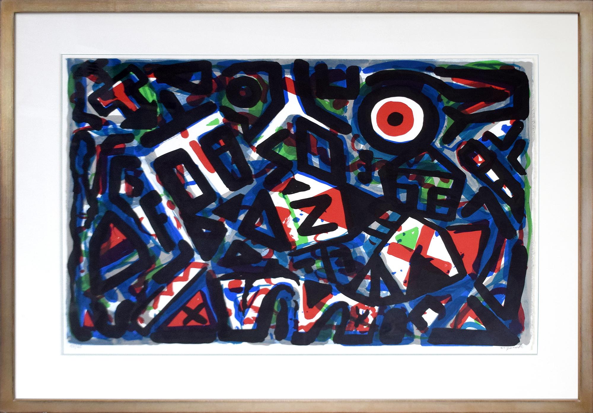 A. R. Penck - Bewegung um das Zentrum herum , 0592-008-016