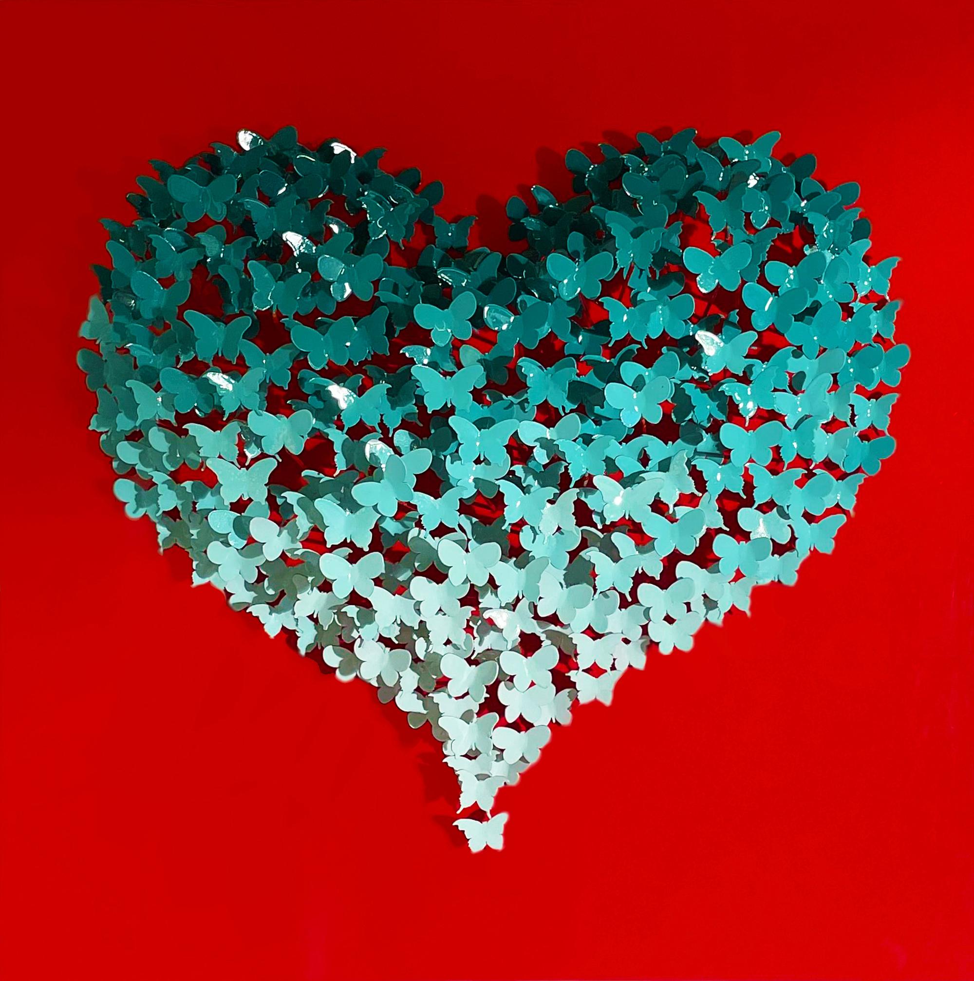 Joel Amit - Butterflies Heart (Türkis & Rot) , 6665-012-075