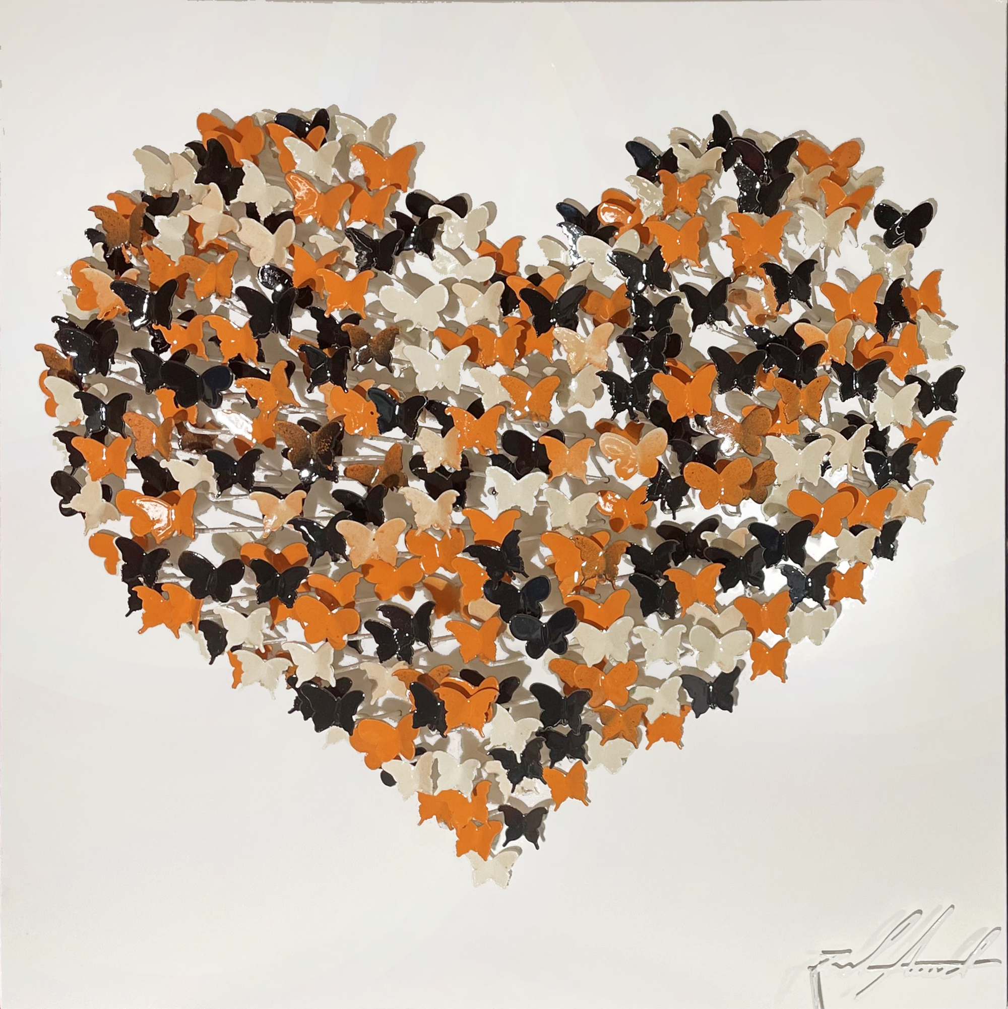 Joel Amit - Butterflies Heart (Orange & Schwarz) , 6665-012-077