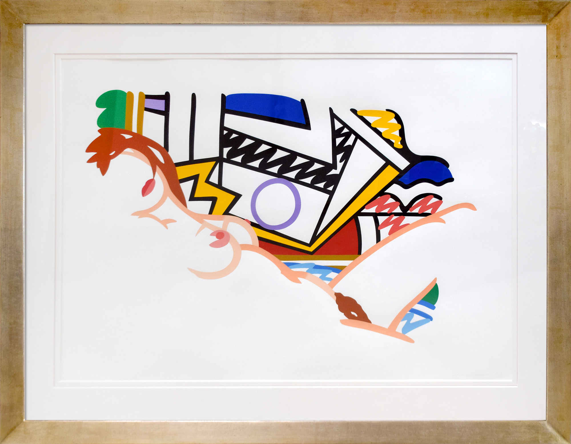 Tom Wesselmann - Monica Nude with Lichtenstein , 6563-008-017