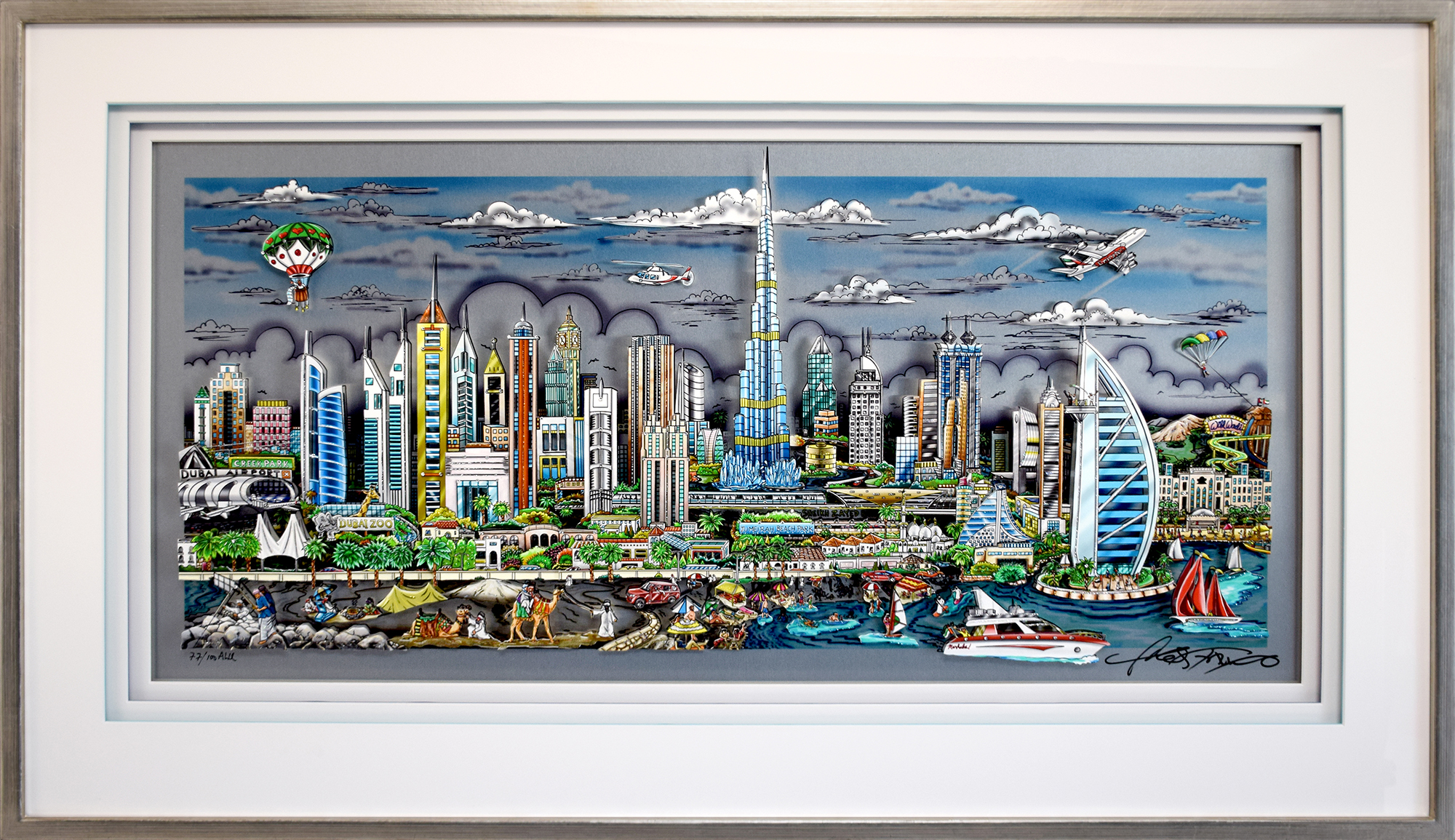 Charles Fazzino - Illusions of Dubai , 5552-008-861-948-979