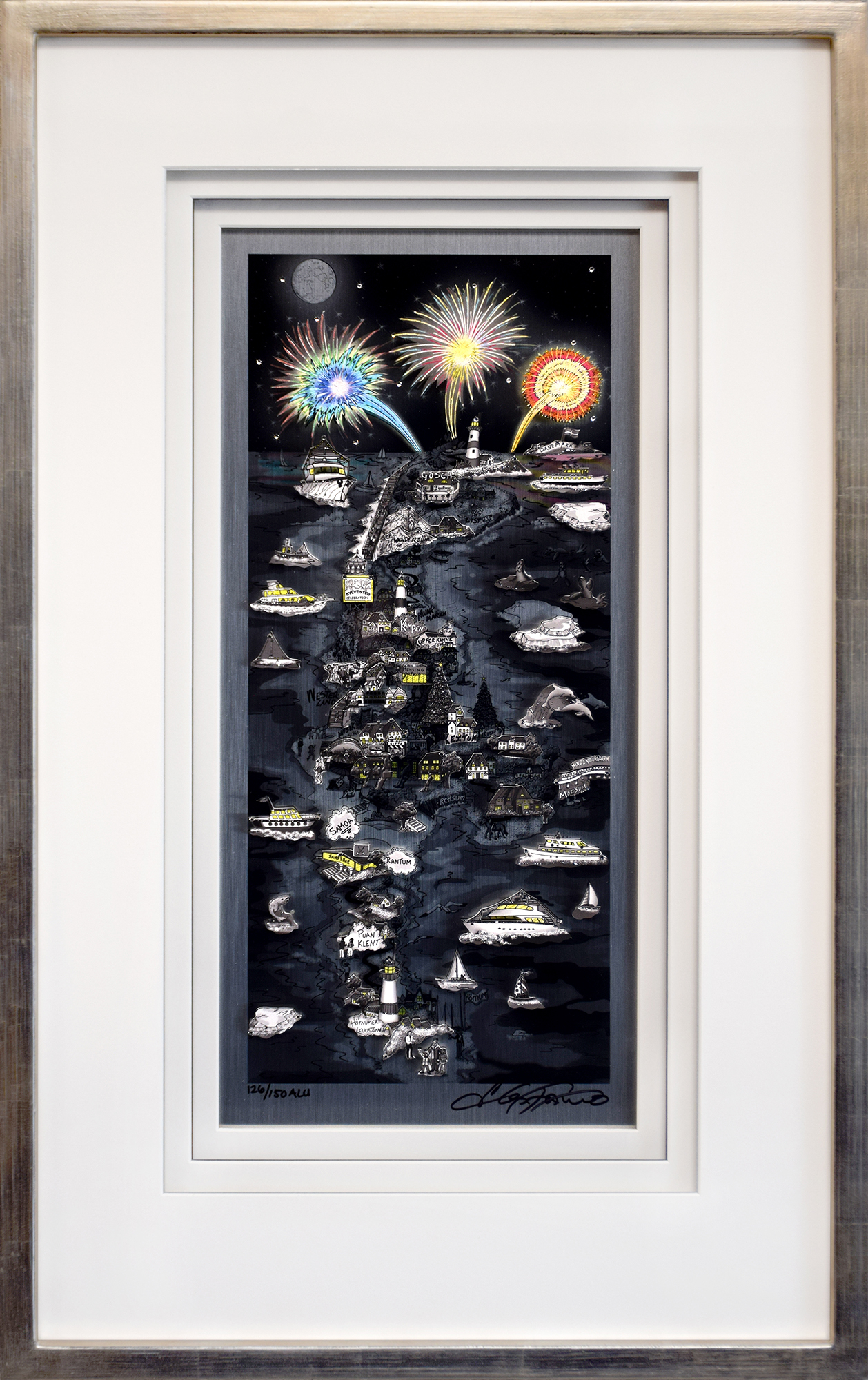 Charles Fazzino - Fireworks over Sylt , 5552-008-590-603