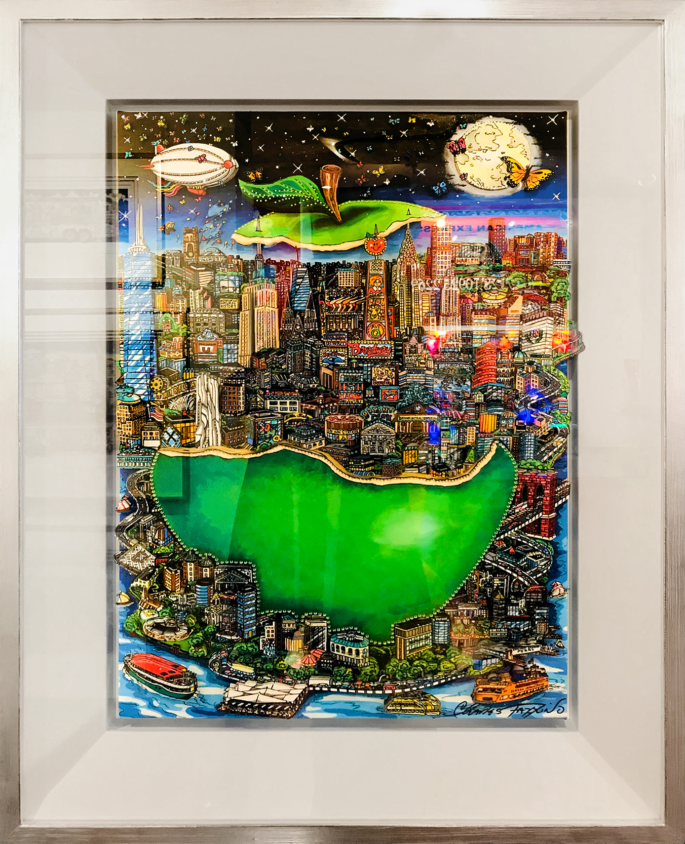 Charles Fazzino - Green Apple II , 5553-012-016
