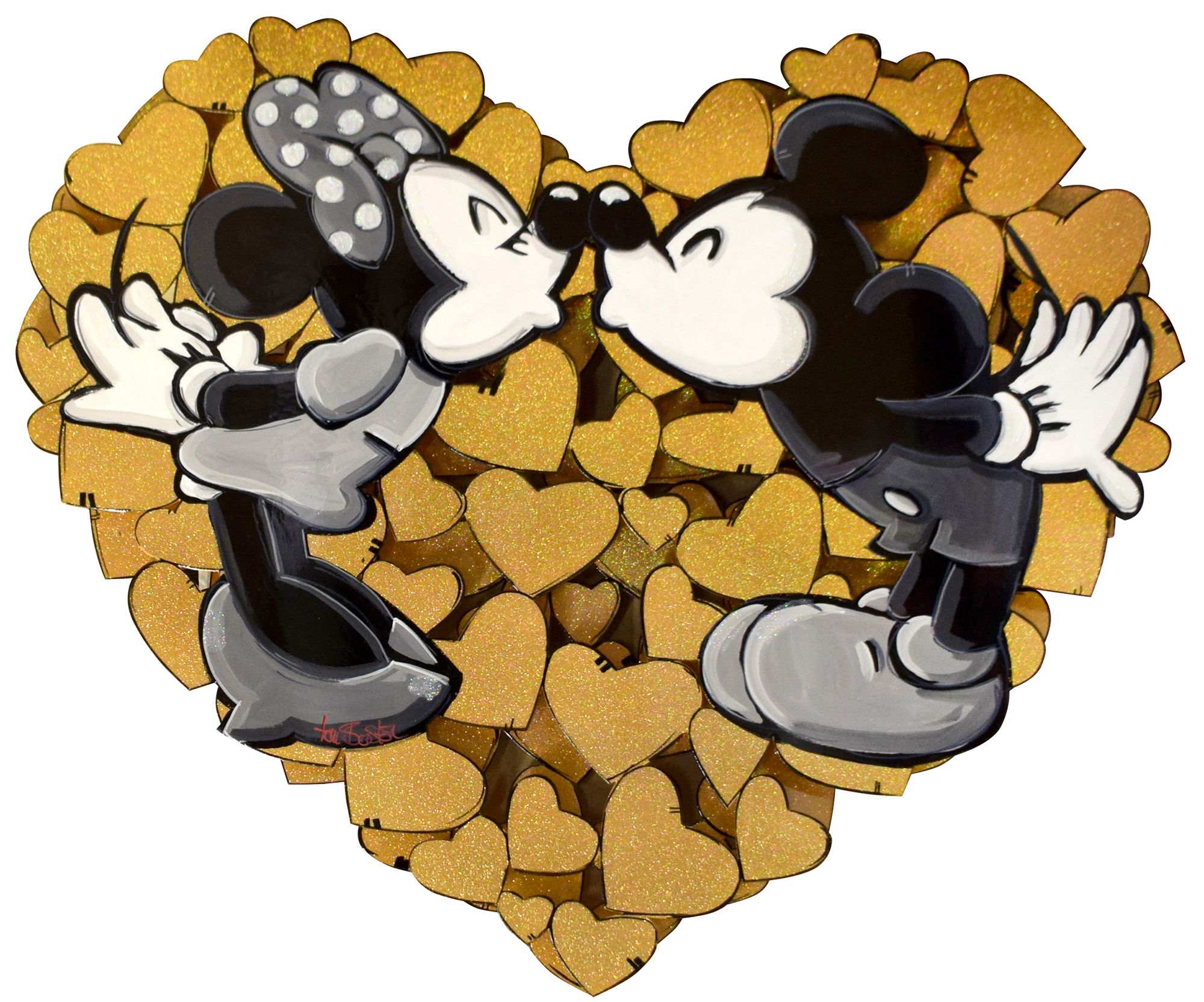 Tom Boston - Mickey & Minnie in Love (Gold) , 8022-006-320