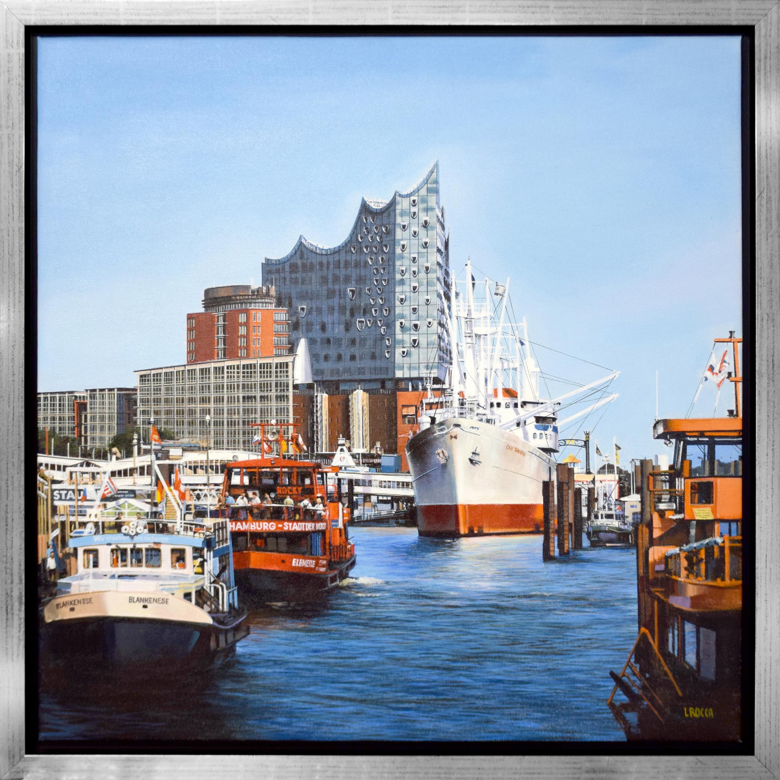 Luigi Rocca - Red Hamburg Boat