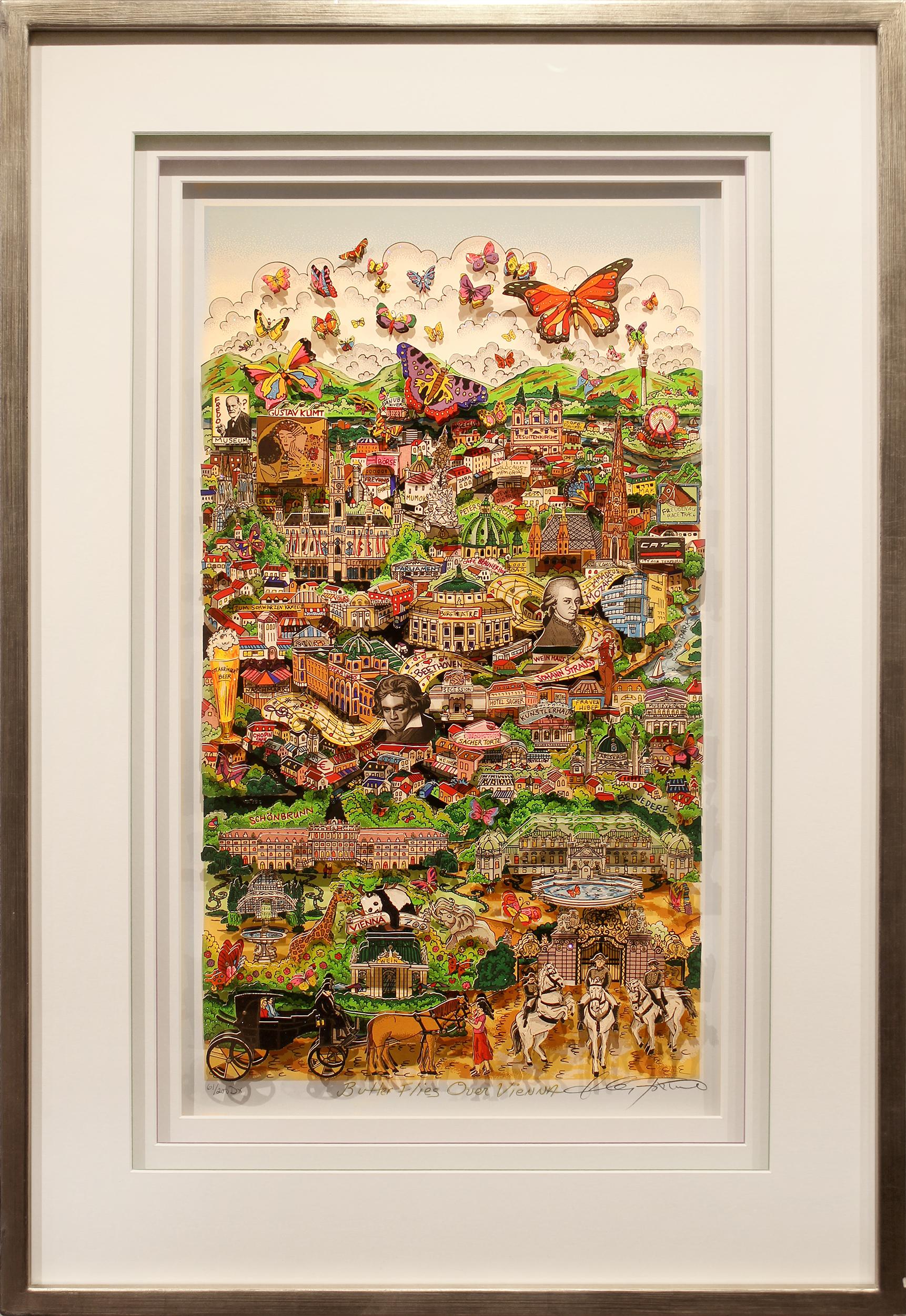 Charles Fazzino - Butterflies over Vienna, 5552-008-662