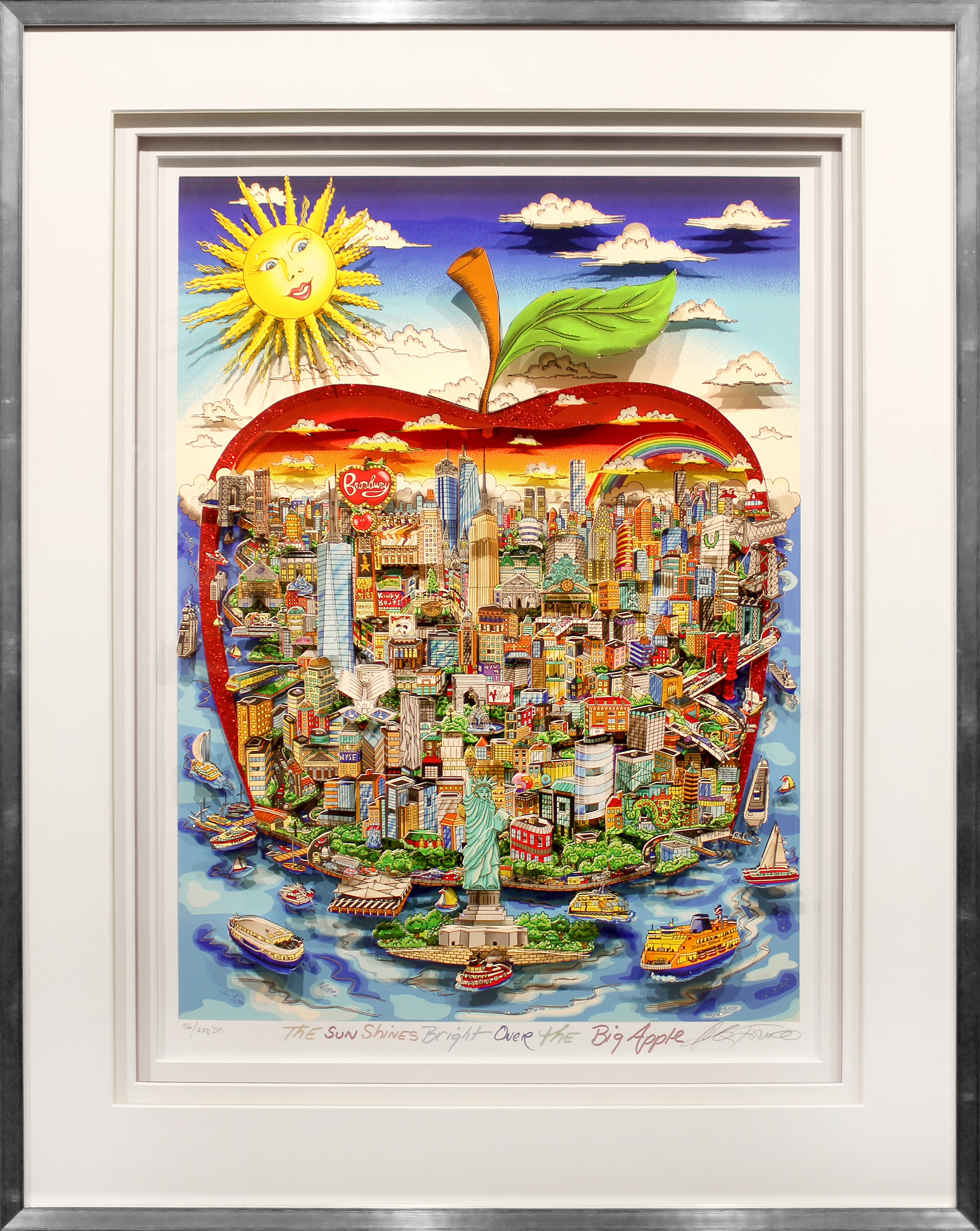 Charles Fazzino - The Sun shines bright over the Big Apple , 5553-008-963-972