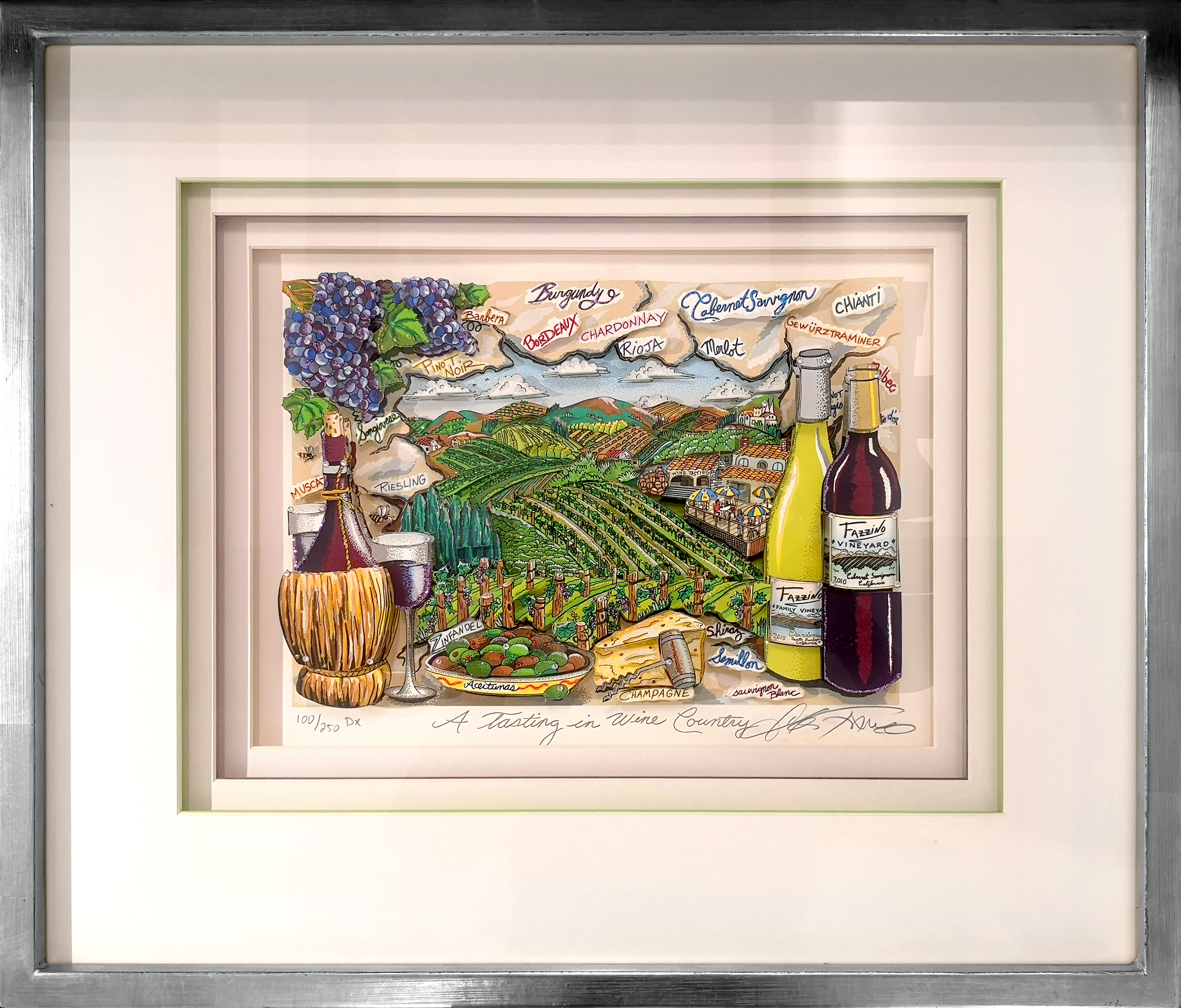 Charles Fazzino - A tasting in wine country , 5552-008-734