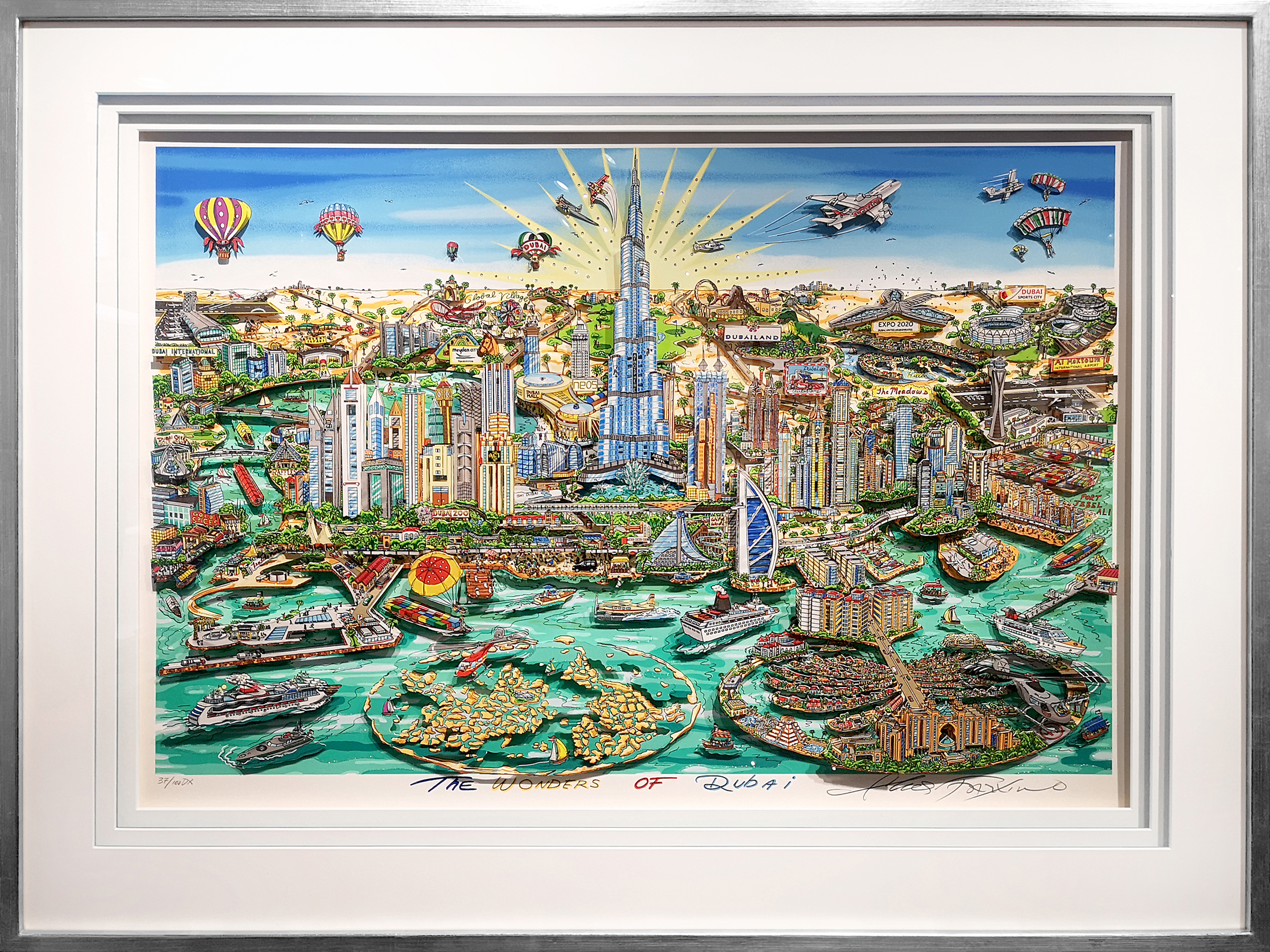 Charles Fazzino - The Wonders of Dubai , 5552-008-839-943-961