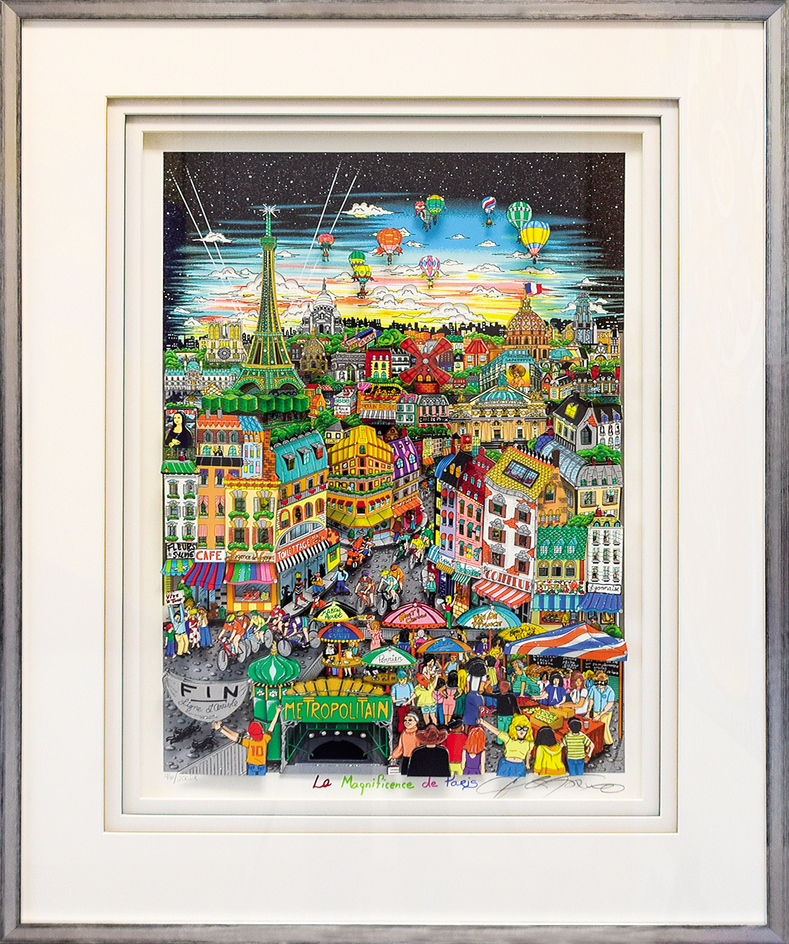 Charles Fazzino - La Magnificence de Paris , 5553-008-328-988-995
