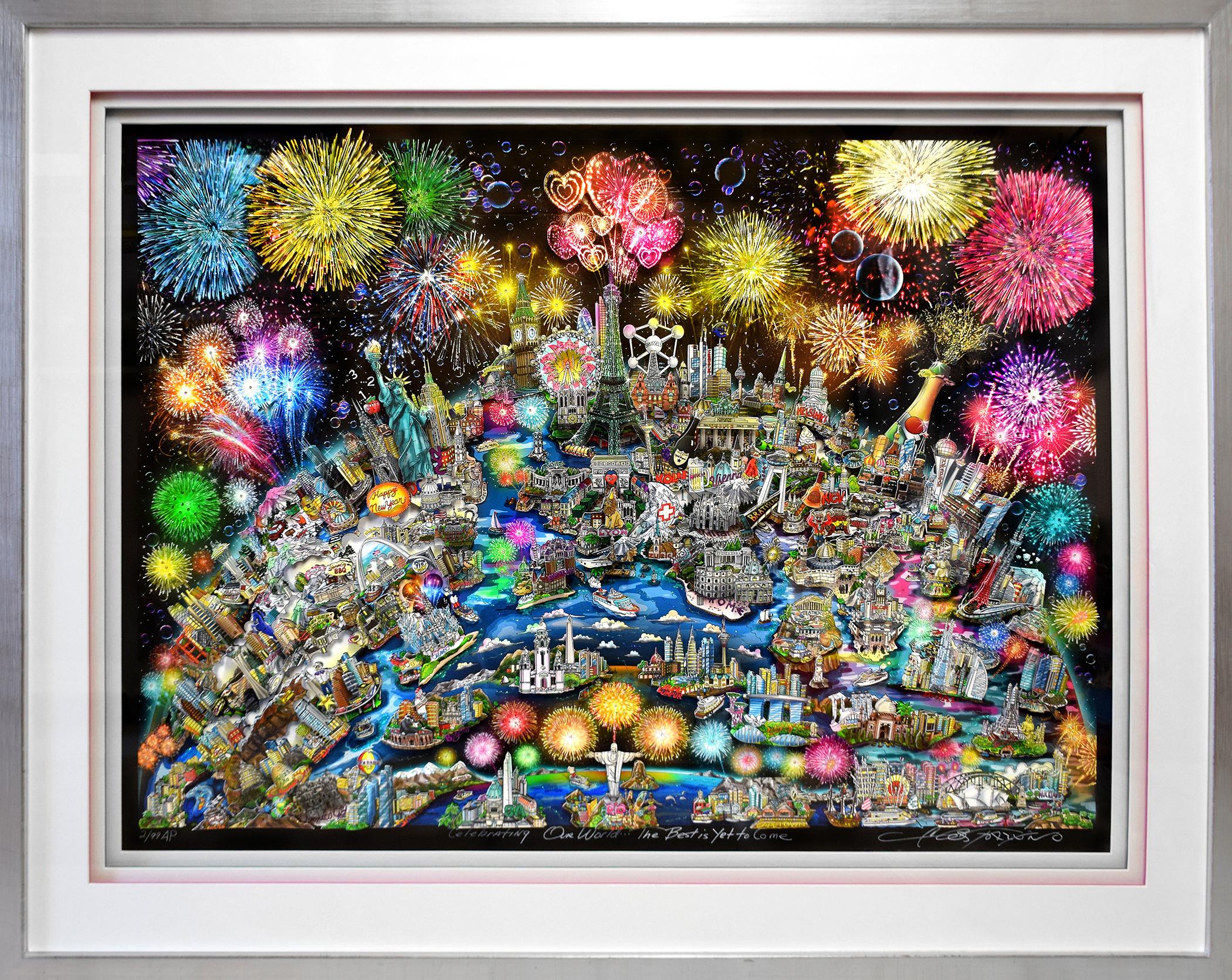 Charles Fazzino - Celebrating our World (AP) , 5553-008-997