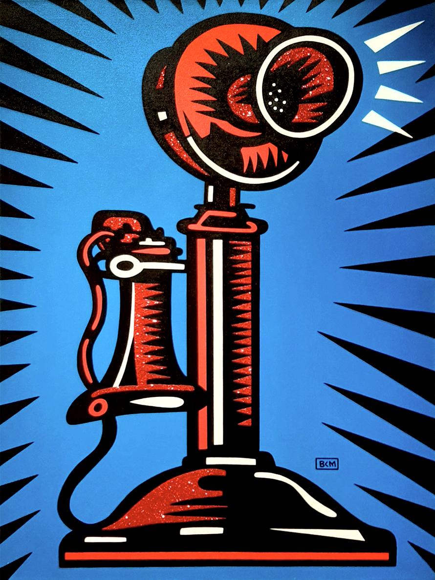 Burton Morris – Retro Telephone , 6557-006-036