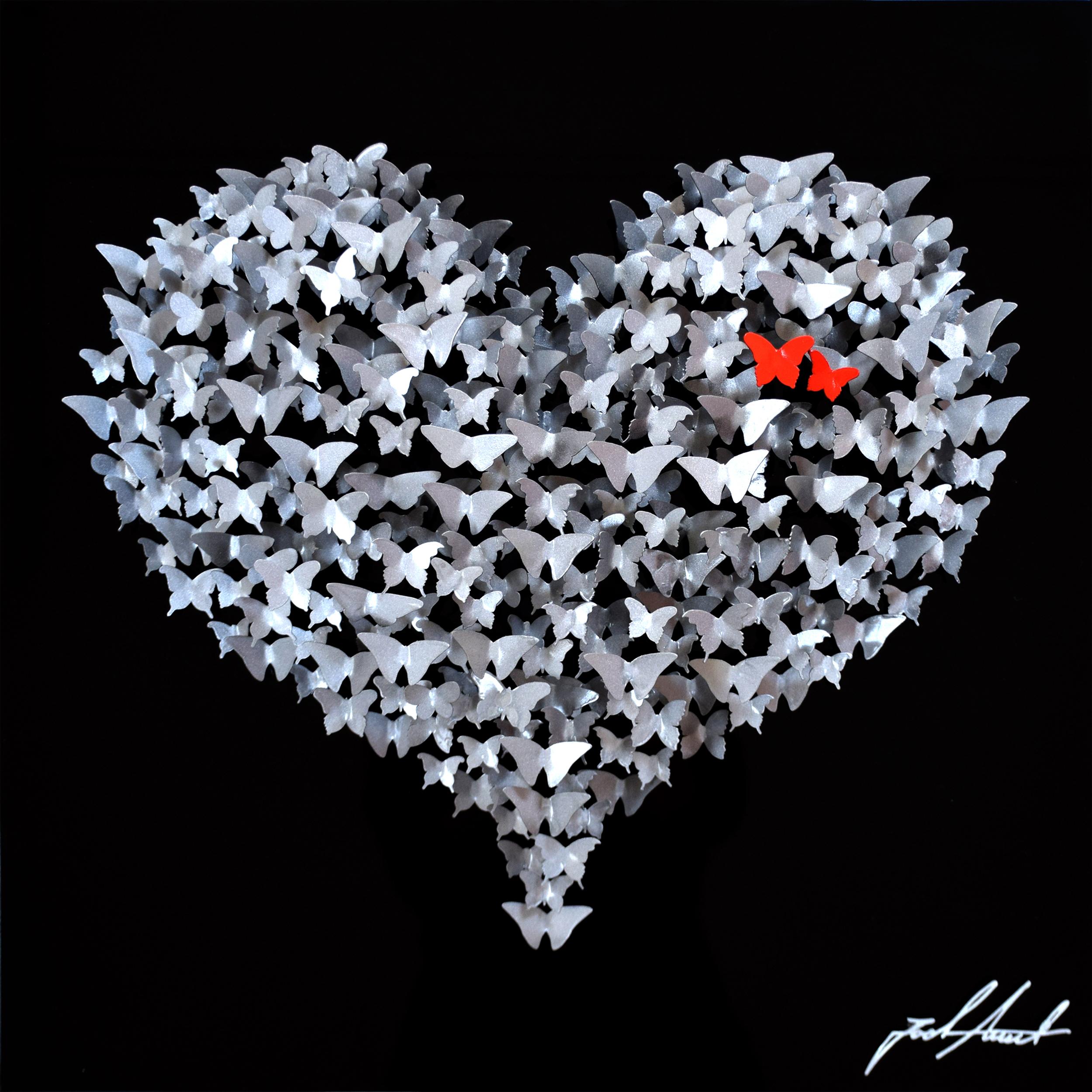 Joel Amit - Flying Love (Silver on Black) , 6665-012-098