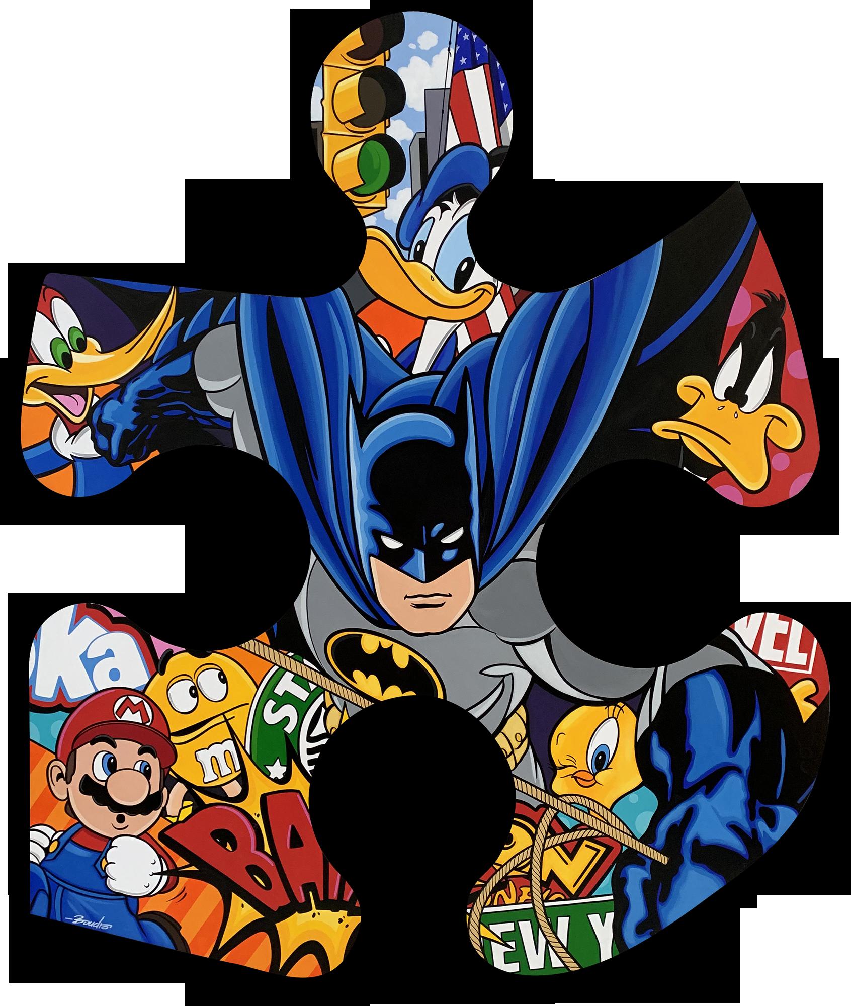 Guy Boudro - Batman in the city (Puzzle) , 9200-012-020