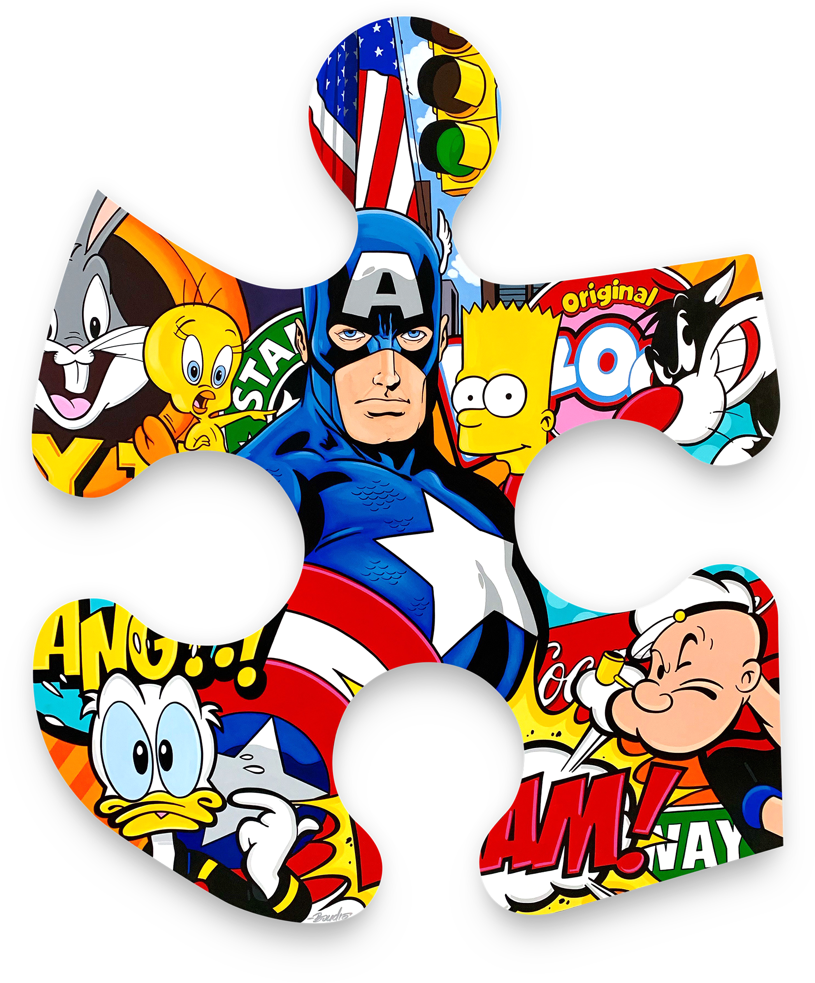 Guy Boudro - Captain America and Friends in New York (Puzzle) , 9200-012-021