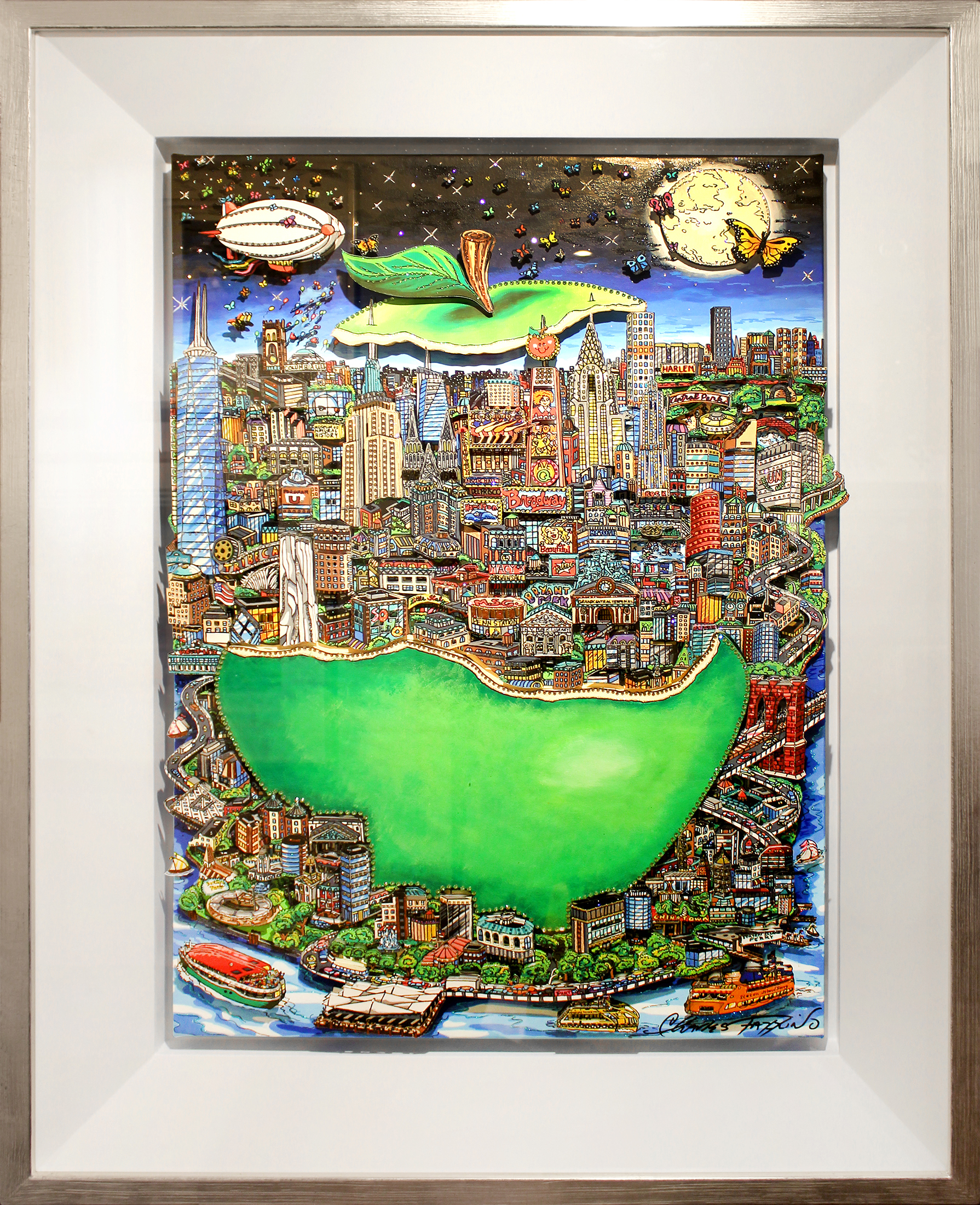 Charles Fazzino - Green Apple II , 5553-012-016