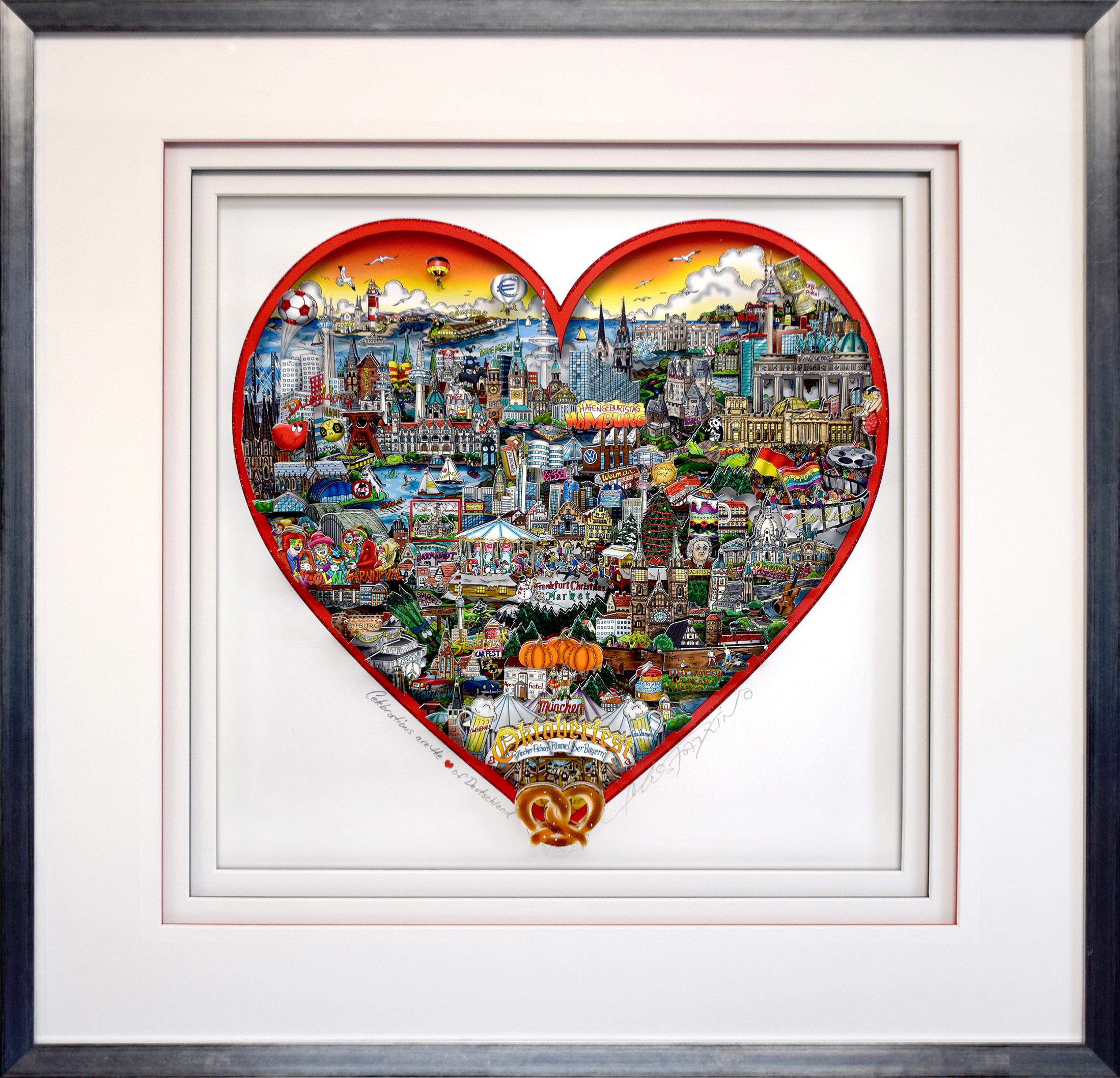 Charles Fazzino - Celebrations are the Heart of Deutschland , 5553-008-360-368-375