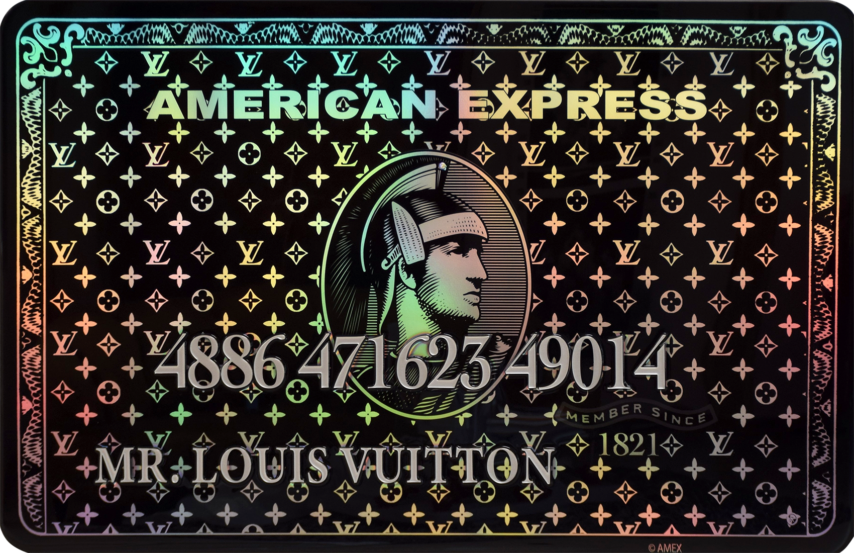 Diederik - AMEX (Mr. Louis Vuitton, Black) , 4504-016-261-280