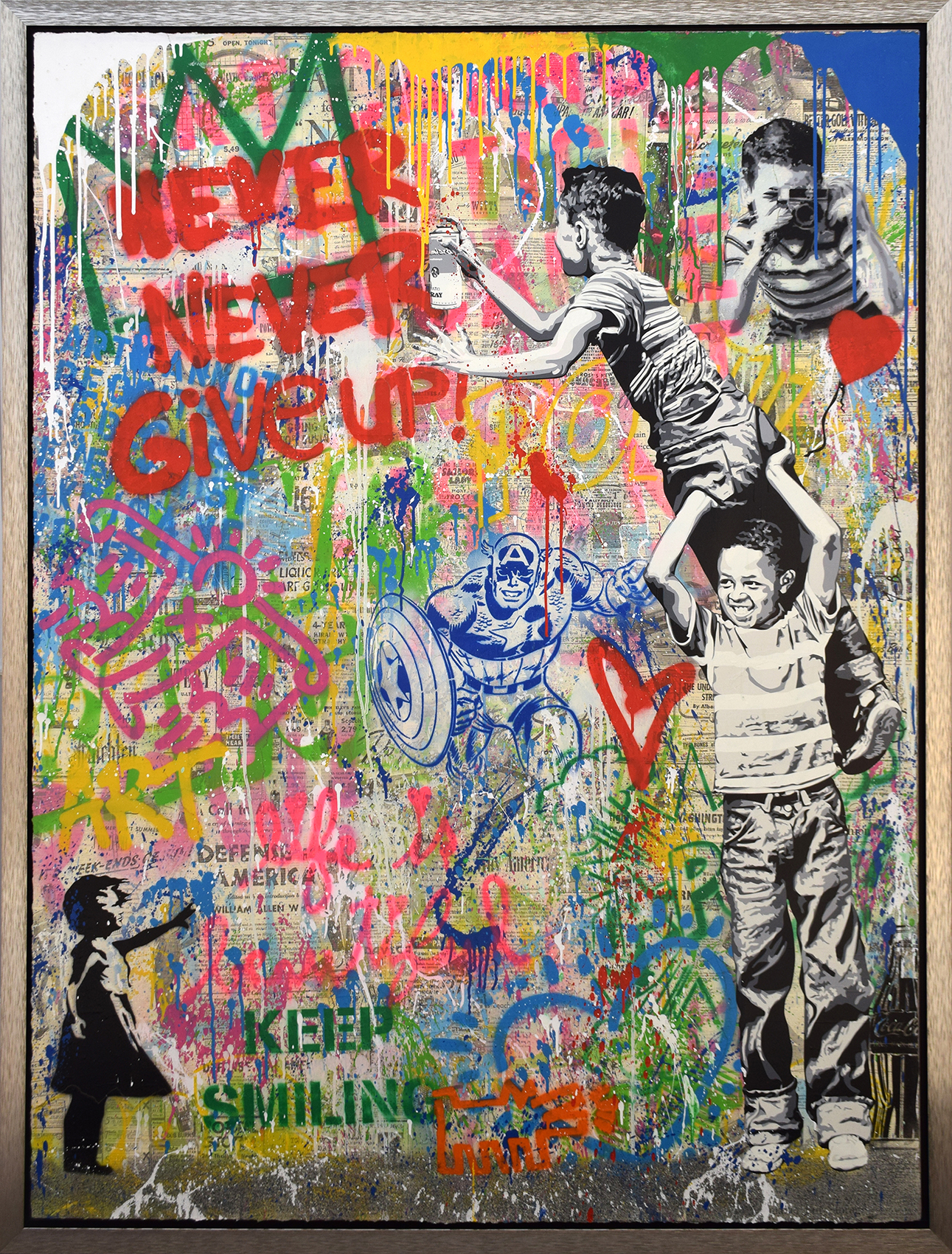 Mr. Brainwash - Never, never give up! (with Balloon Girl) , 9003-012-152
