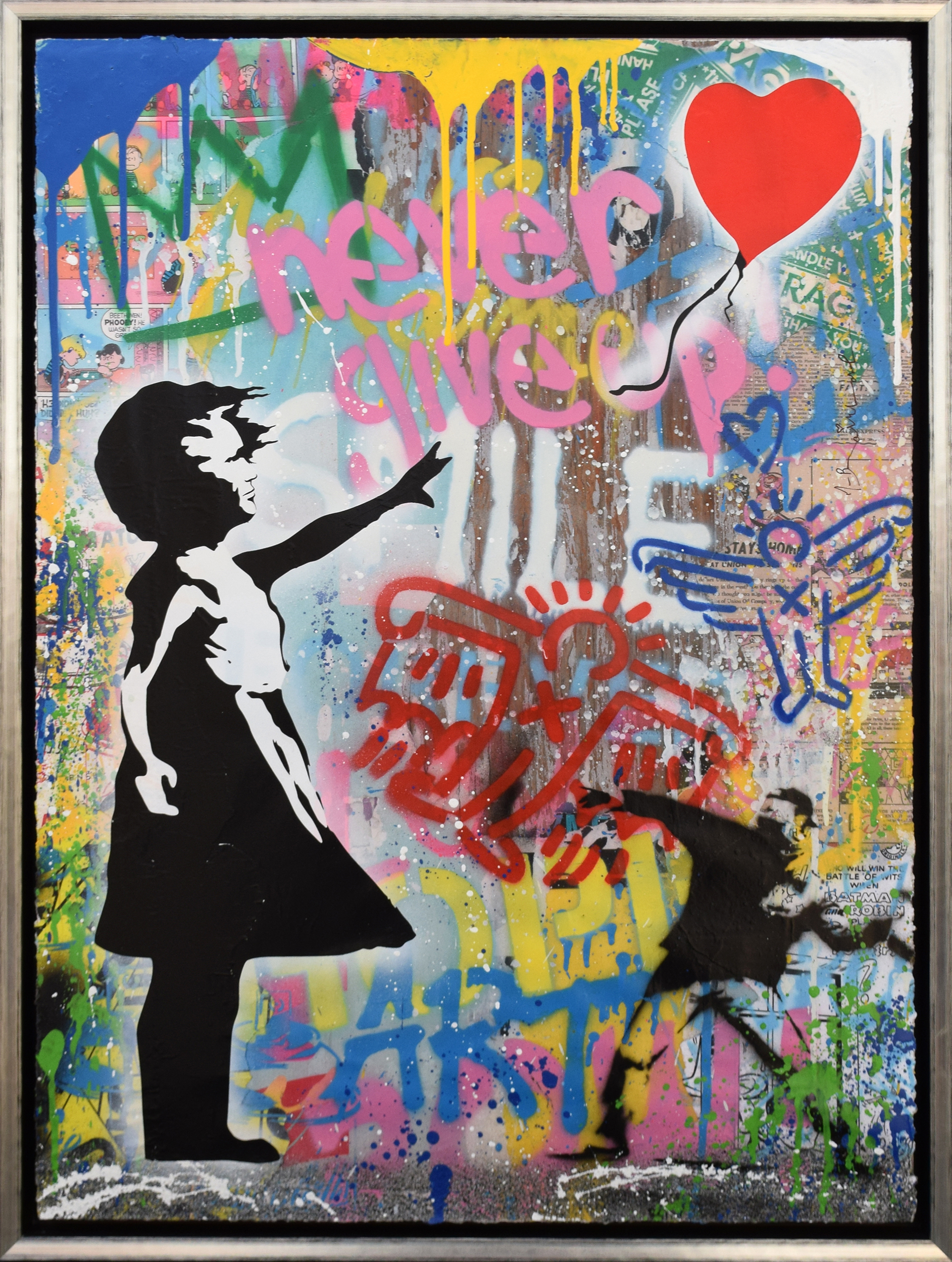 Mr. Brainwash - Balloon Girl (with Banksy Thrower) , 9003-012-159