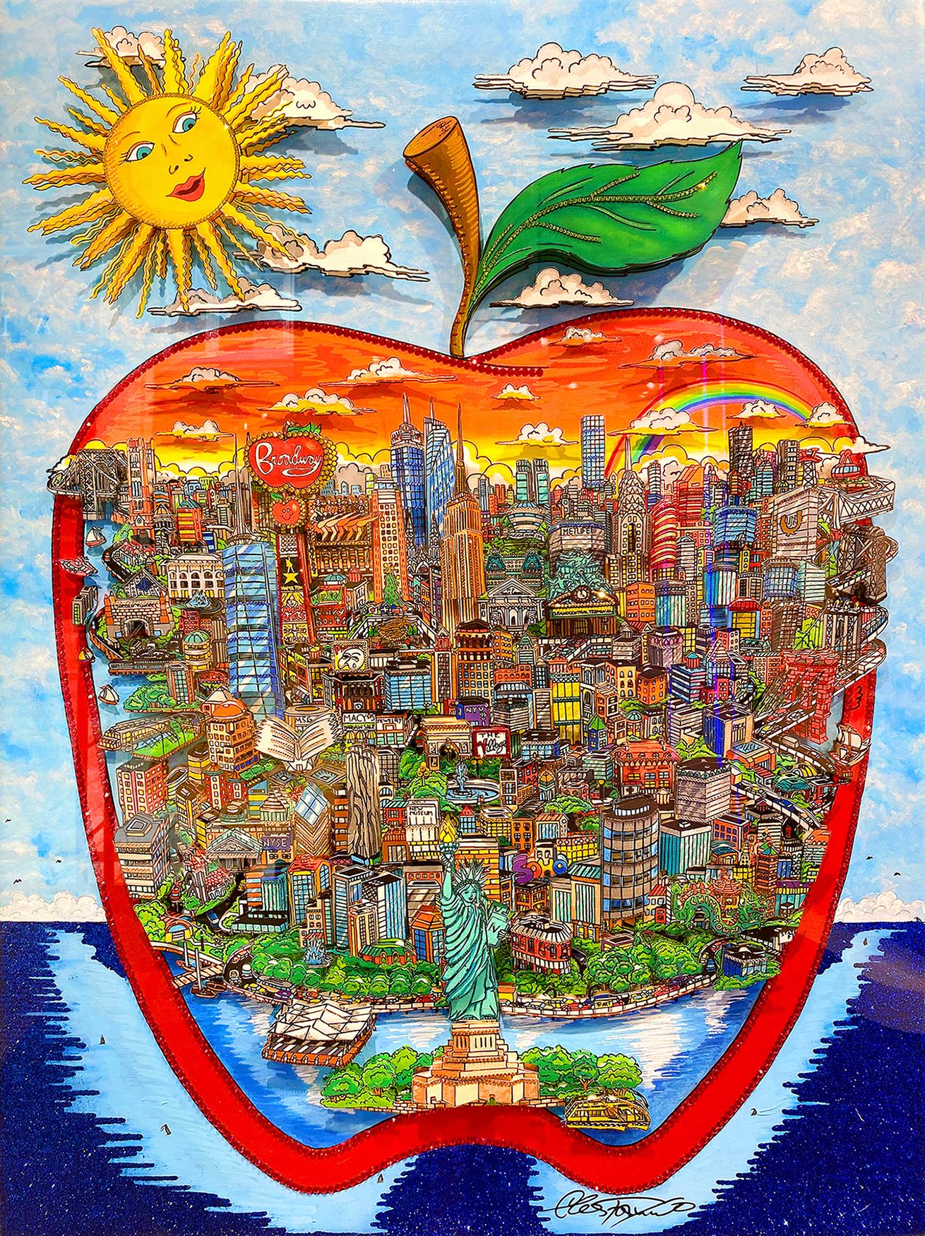 Charles Fazzino - Bright Sun over the Big Apple , 5553-012-009