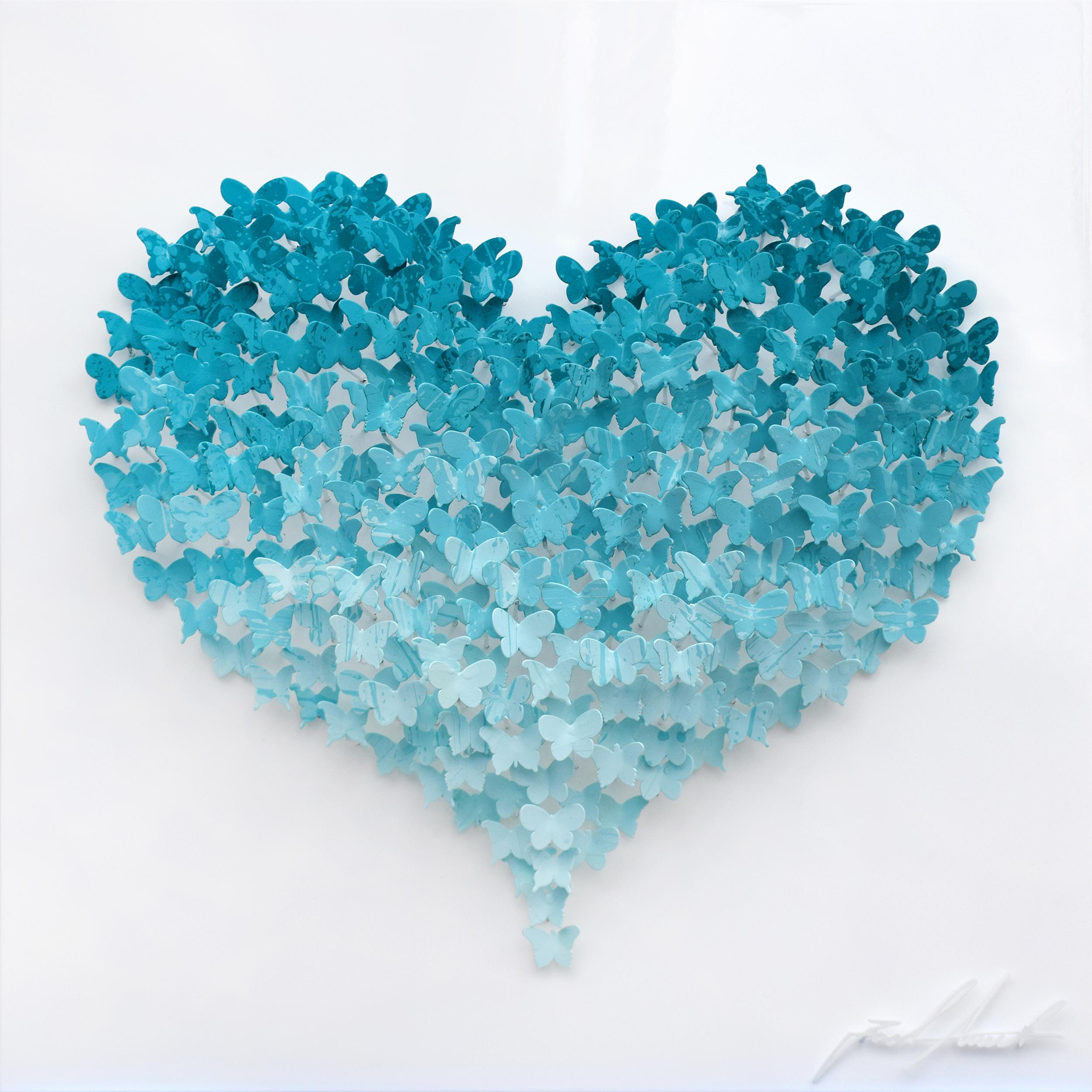 Joel Amit - Flying Love (Turquoise on White) , 6665-012-144