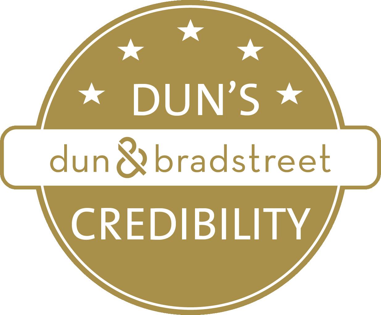 Dun & Bradstreet Credibility badge