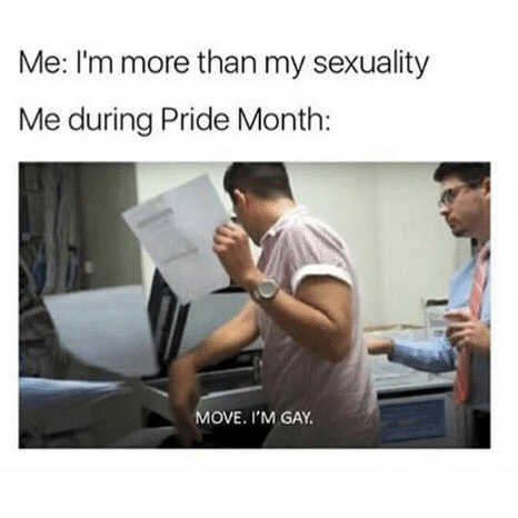 MOVE I'M GAY PRIDE MONTH MEME