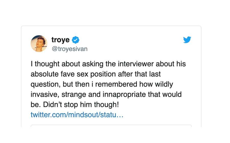 TROYE SIVAN TWEET