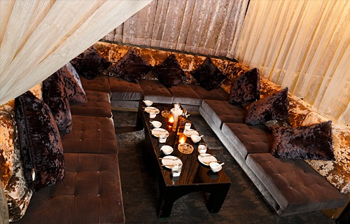 picture of a large harem sofa in the PIMP Bangkok club room
