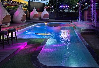 empty pool zone at the PIMP Bangkok
