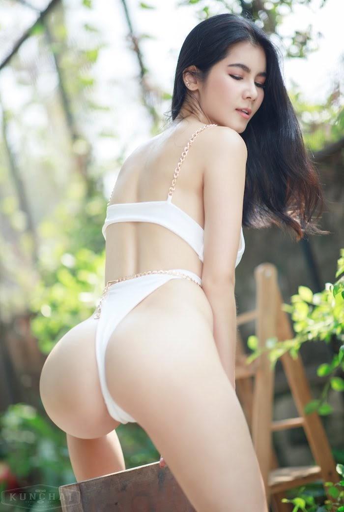 sexy Thai ex pornstar Nat Kejsarin in beautiful Thai lingerie