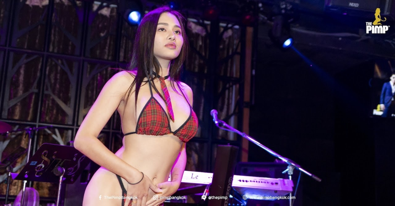 hot looking Thai babe in a bikini during a student party at The PIMP Bangkok