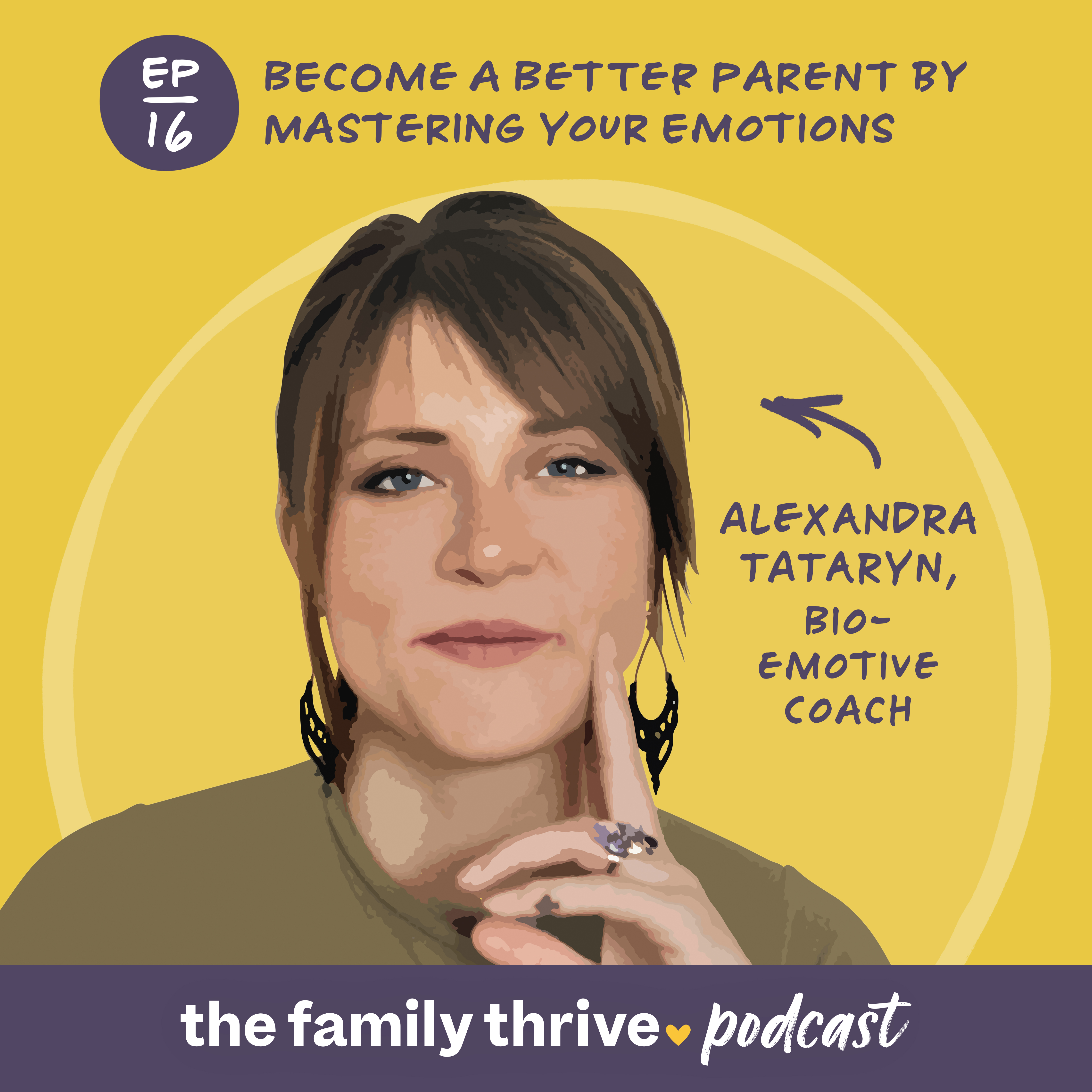 Podcast Ep. 16: Become a Better Parent by Mastering Your Emotions with Alexandra Tataryn, Bio-Emotive Coach