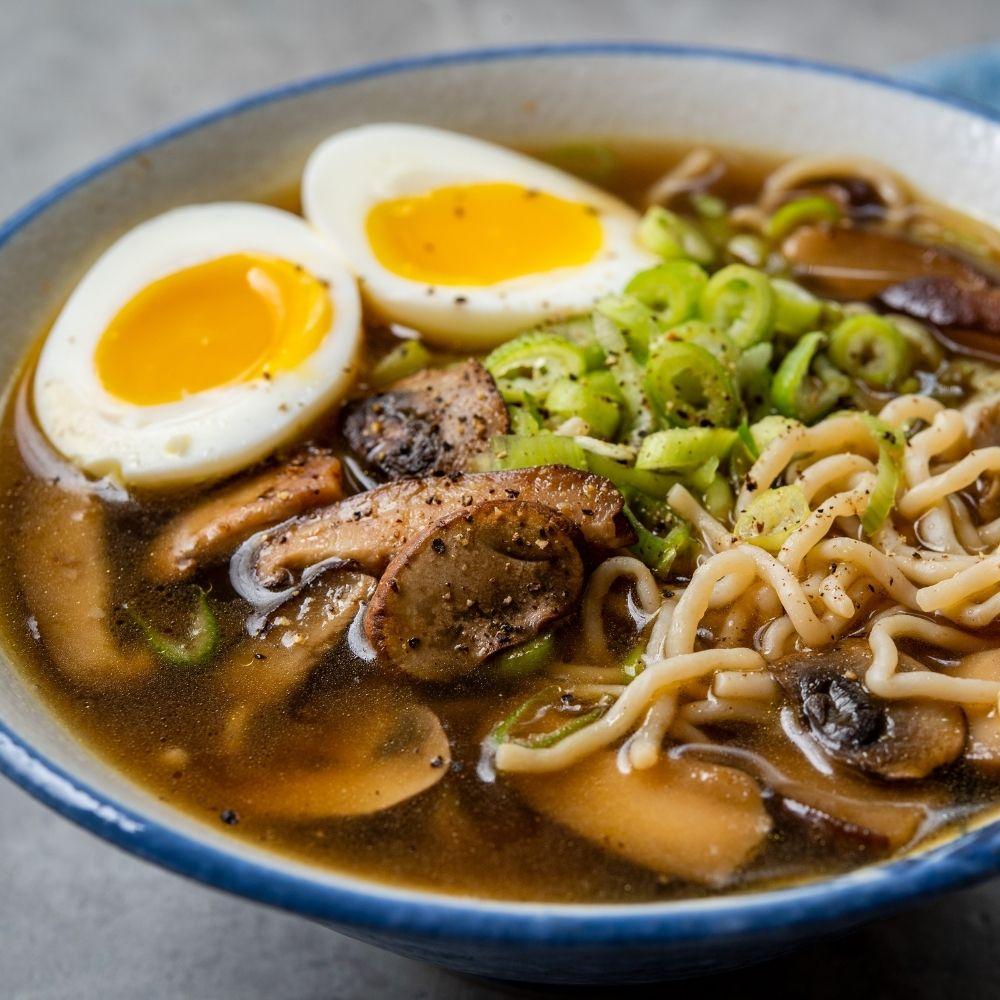 Mushroom Ramen With Shirataki Noodles