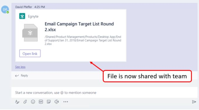 Collaboration Made Easy with the New Microsoft Teams Messaging Extension - Egnyte Blog