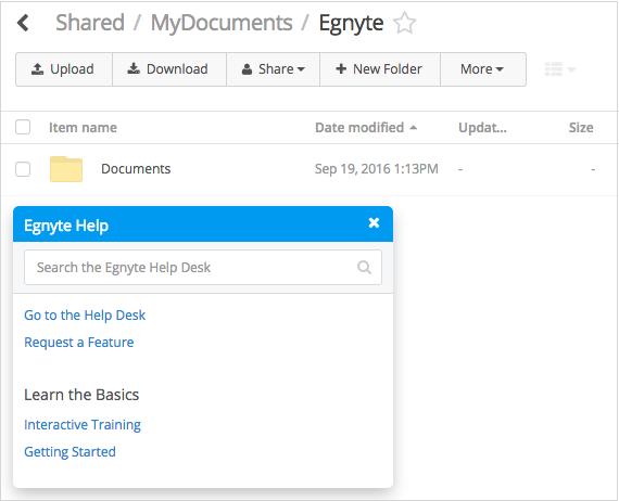 Embedded Help Widget - Egnyte Blog