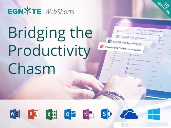 Bridging the Productivity Chasm- Egnyte Blog