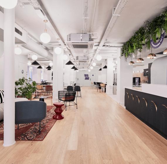 Plateau de bureau et espaces détente