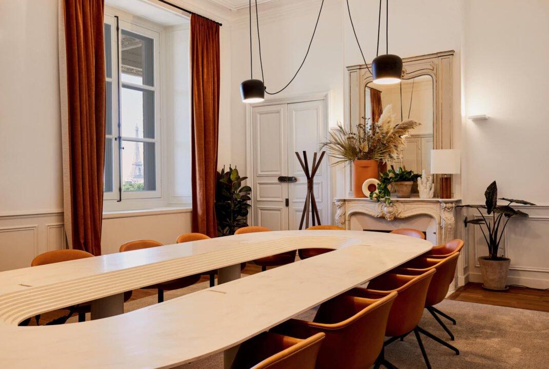 table de réunion créée par Morning