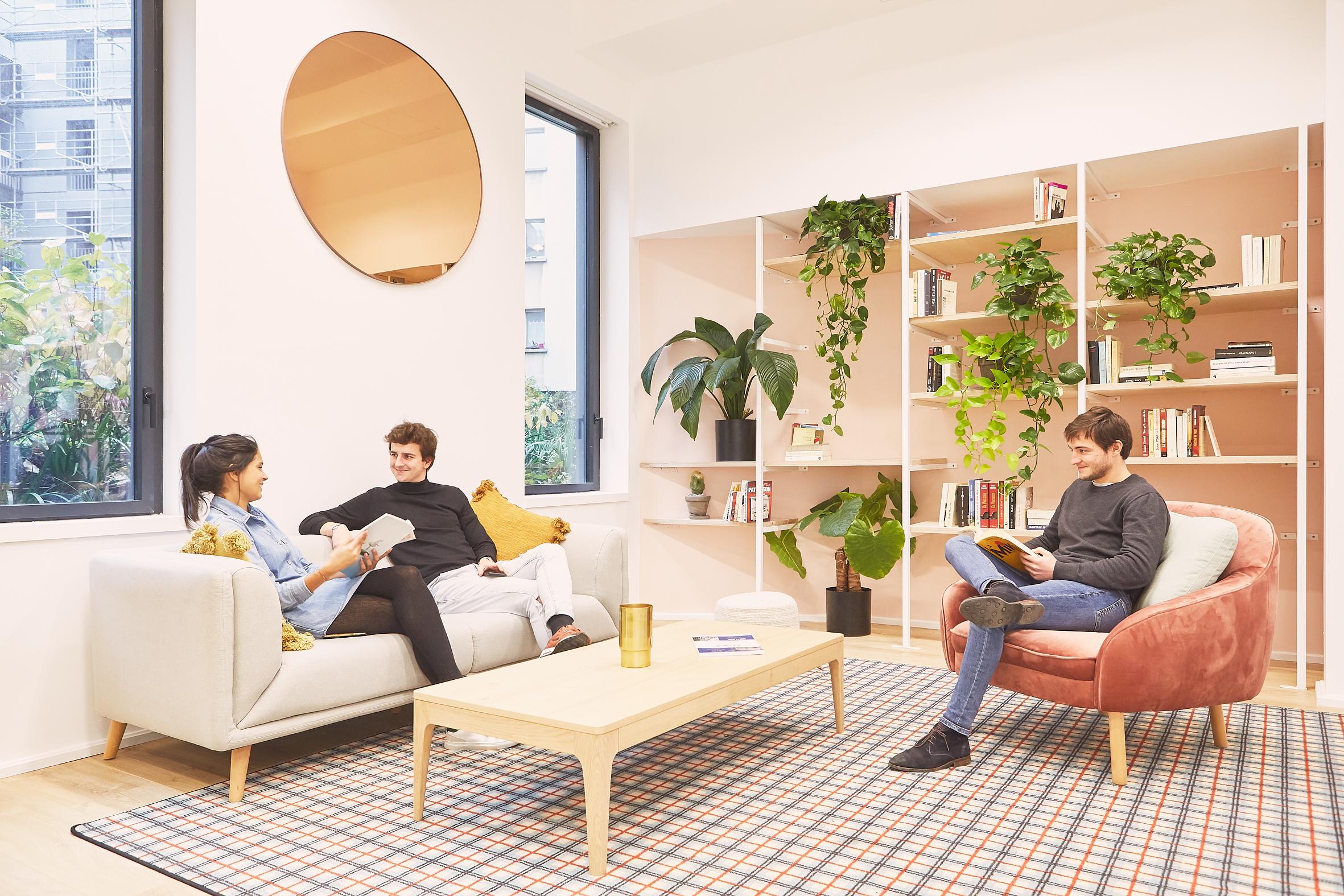 coworking clichy - un coin réunion